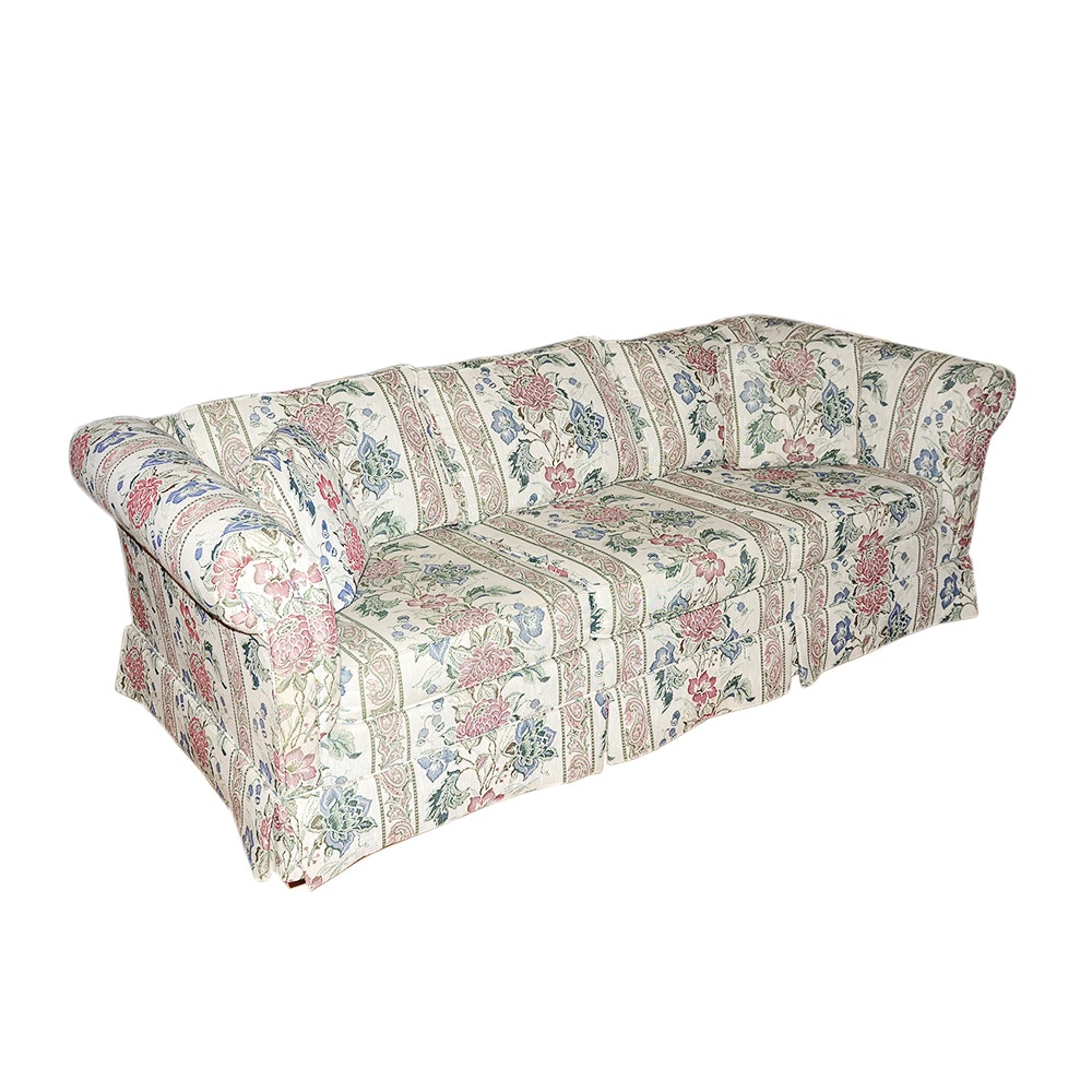 Floral Upholstered Sleeper Sofa