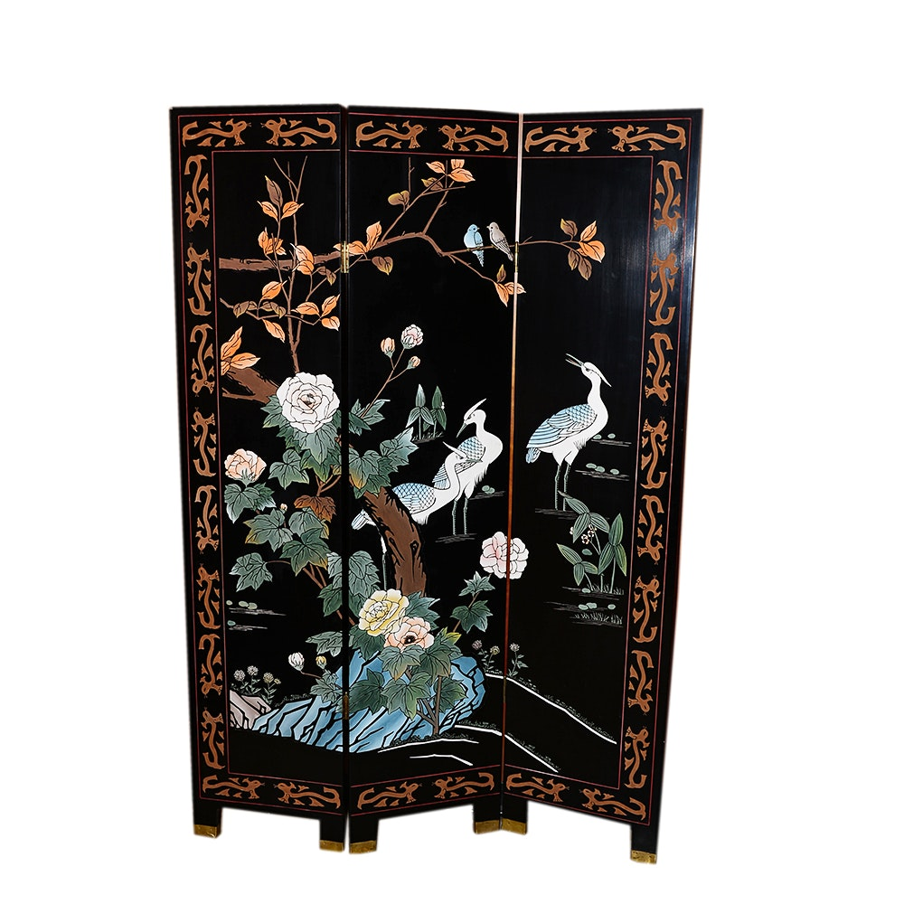 Chinese Illustrated Folding Screen