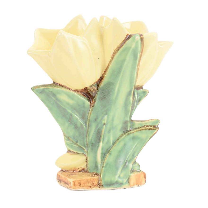Vintage Mccoy Double Tulip Vase Ebth