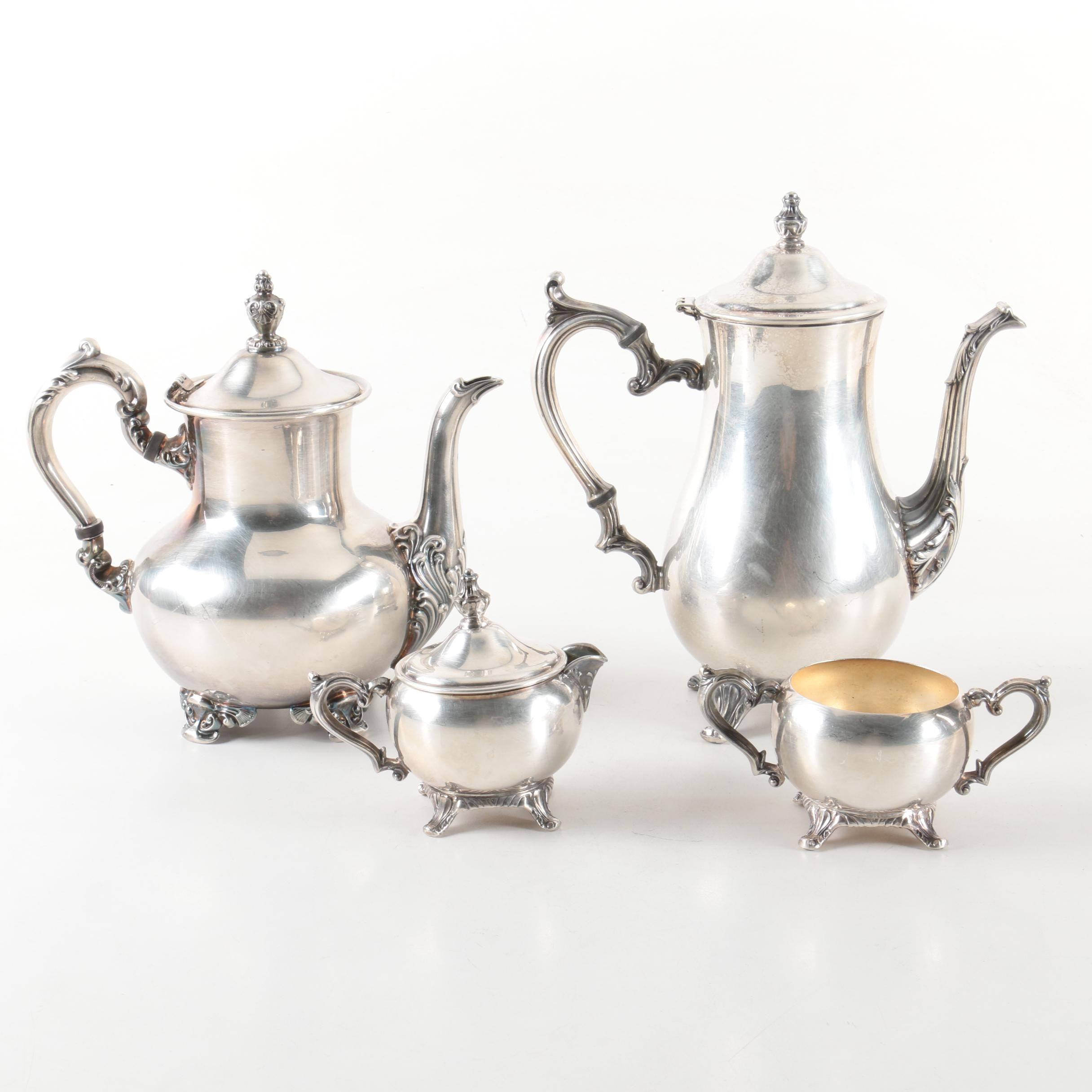 Poole  Old English  Silver Plate Tea and Wm Rogers Coffee Service Set ...  sc 1 st  EBTH.com & Poole