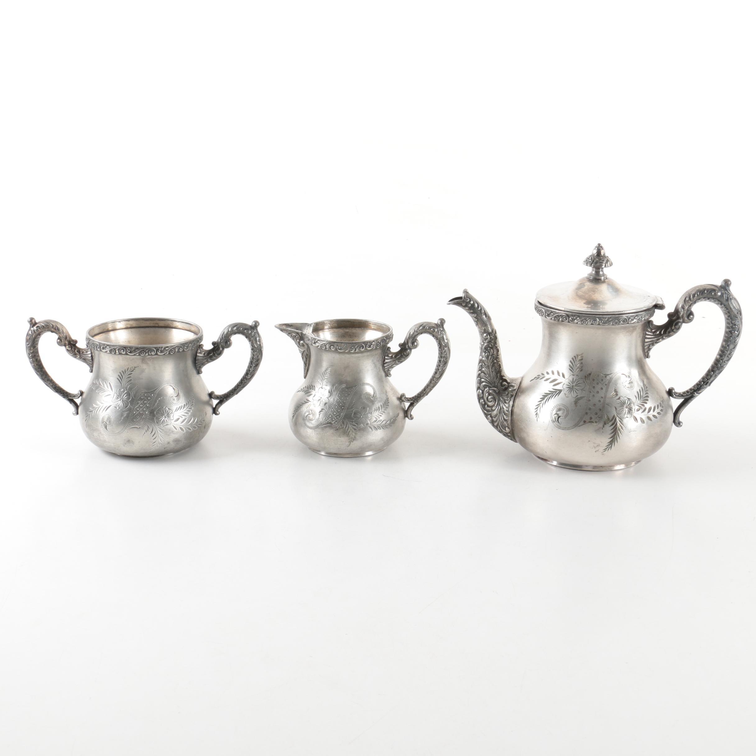 Vintage E.G.Webster \u0026 Son Silver-Plated Tea Service ...  sc 1 st  EBTH.com & Vintage E.G.Webster \u0026 Son Silver-Plated Tea Service : EBTH