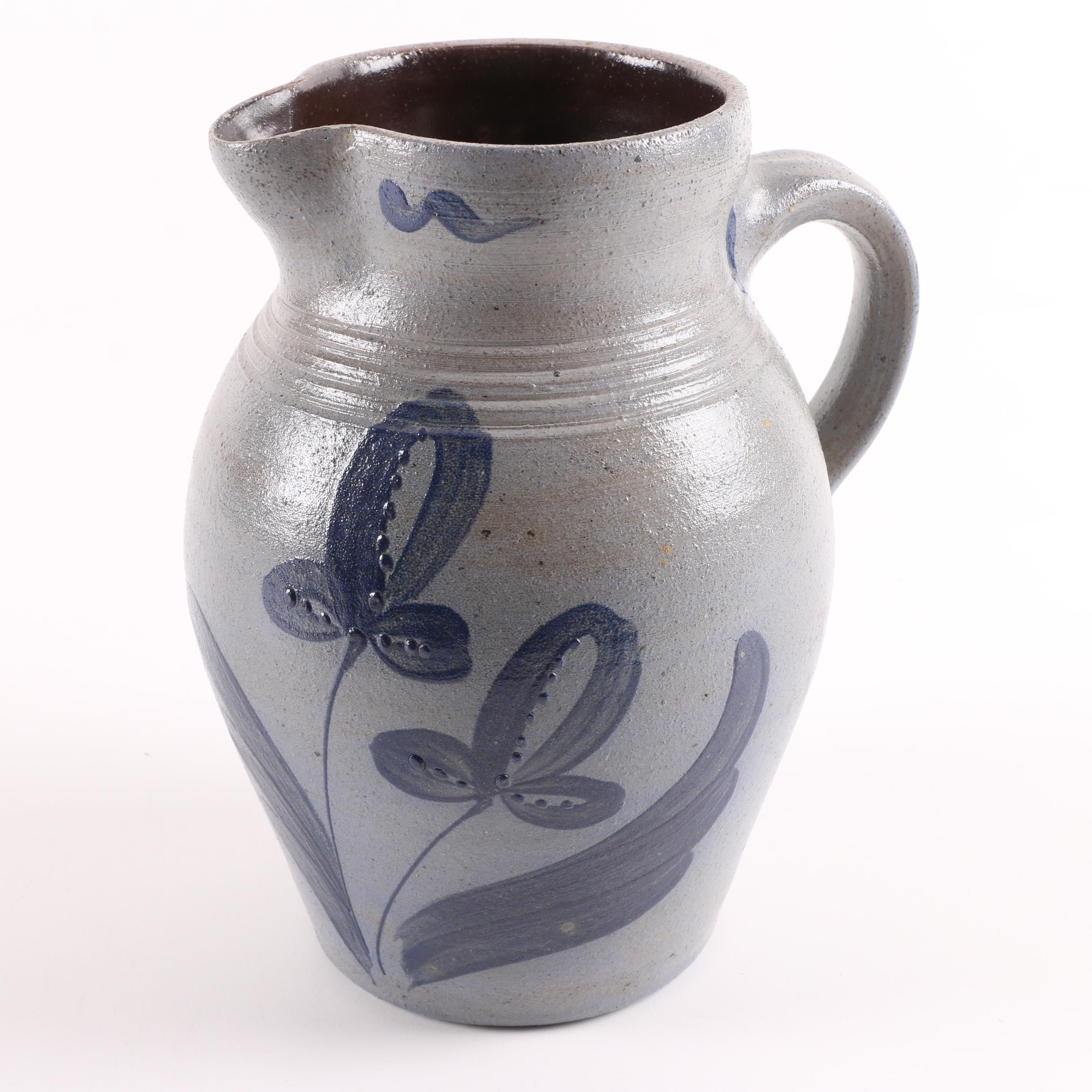 Rockdale Union Hand Thrown Salt Glazed Stoneware Pitcher