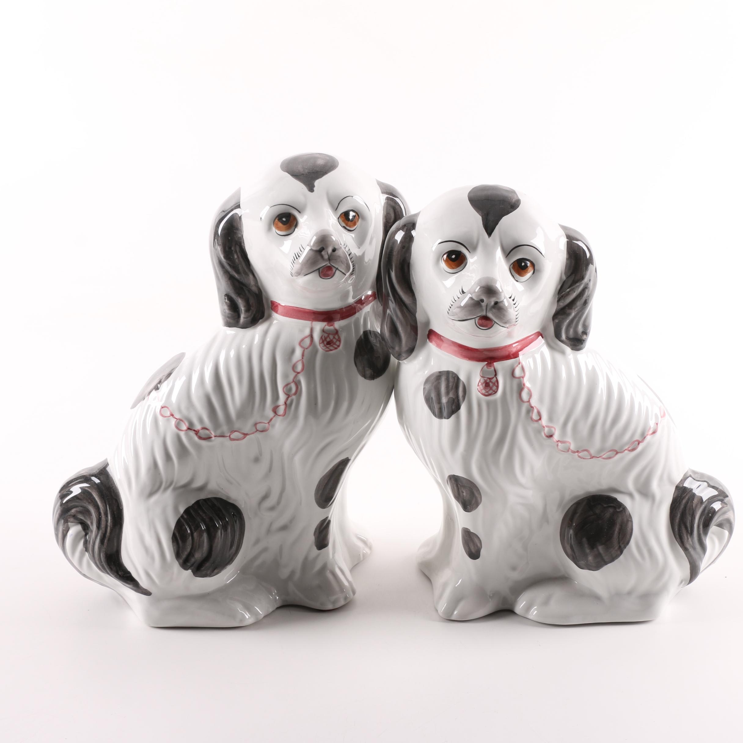Hand-Painted Ceramic Portuguese Dog Figurines