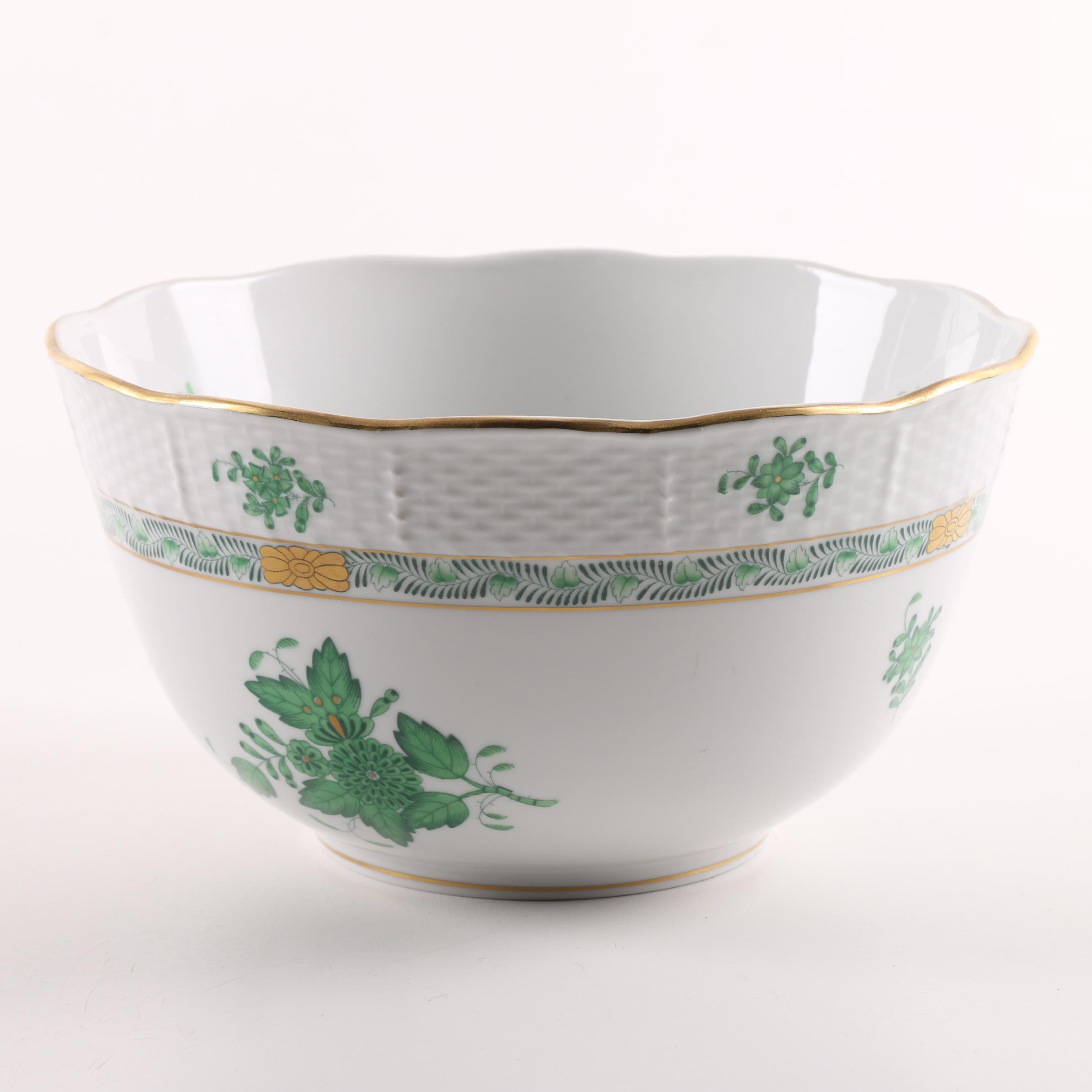 """Herend Hungary """"Chinese Bouquet"""" Bowl"""
