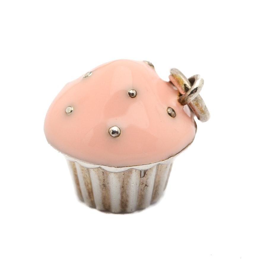 8d8ba101a Tiffany & Co. Sterling Silver Enamel Cupcake Charm : EBTH