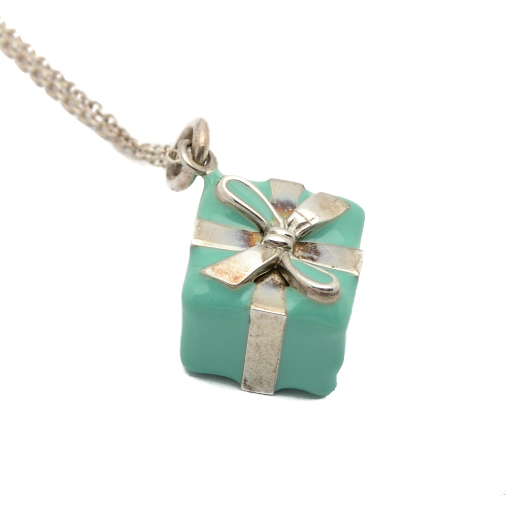 Tiffany & Co. Sterling Silver Present Pendant Necklace