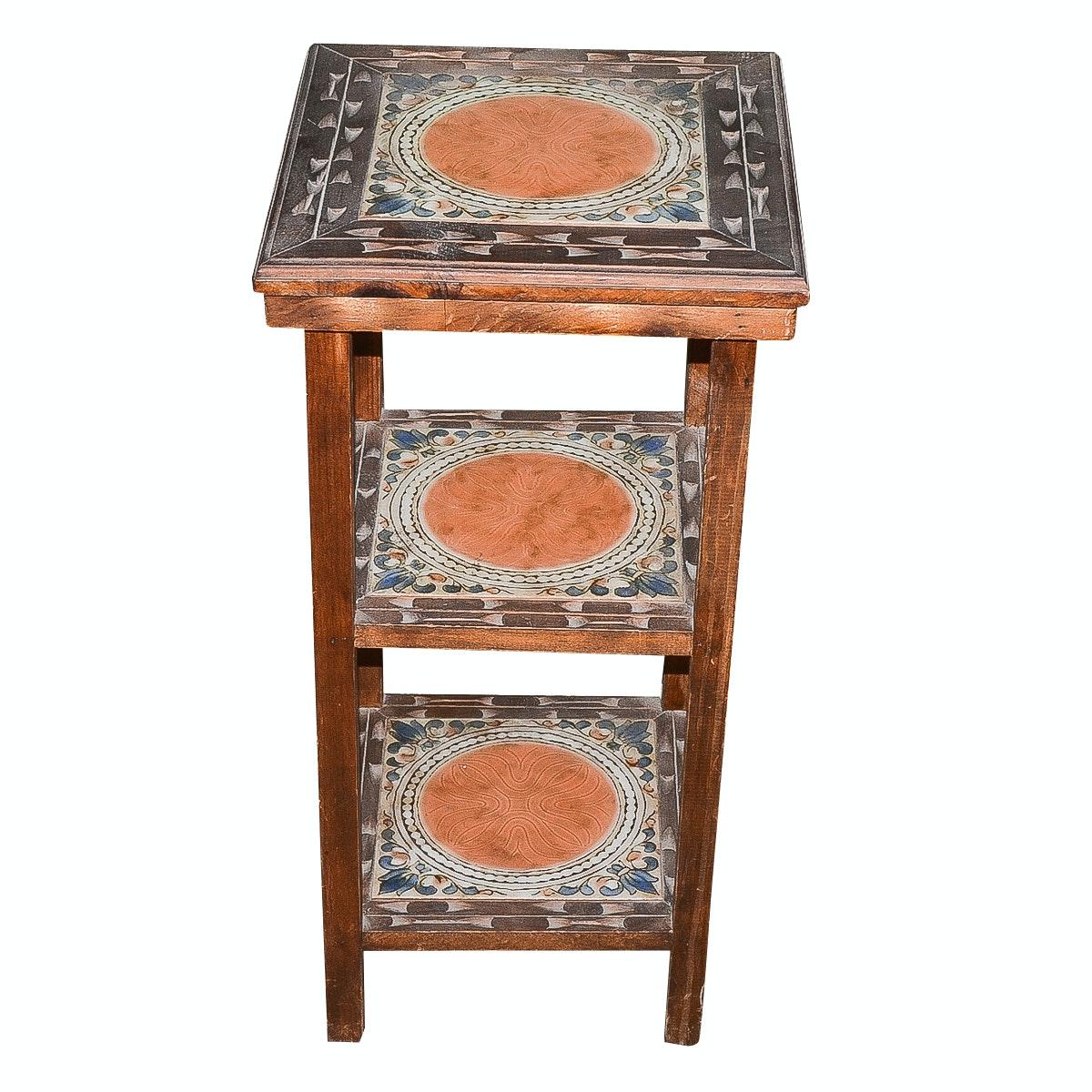 Vintage Italian Tile Accent Table
