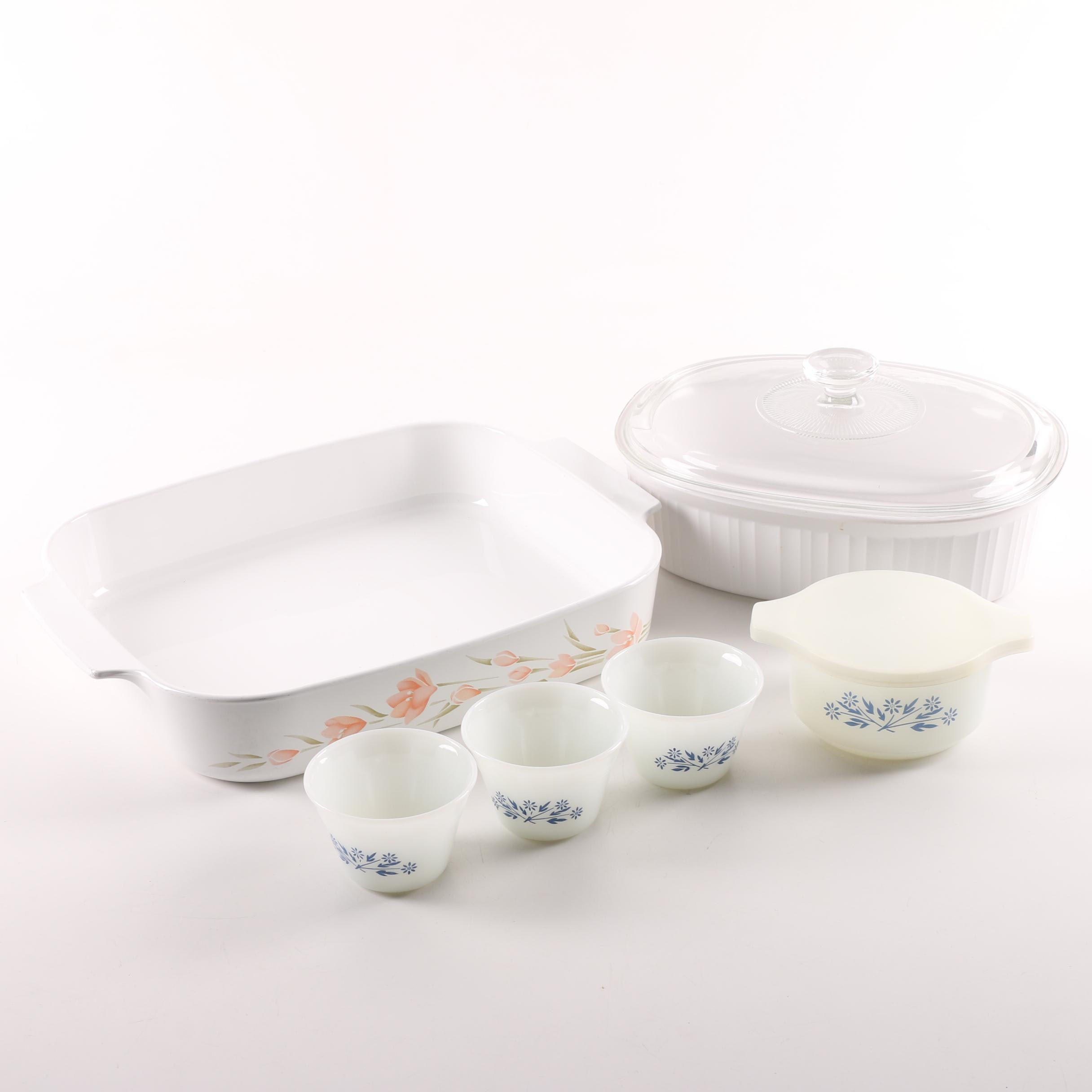 Py-Ro-Rey Baking Dishes, Corning Ware Casserole and Ceramic Lasagna Pan