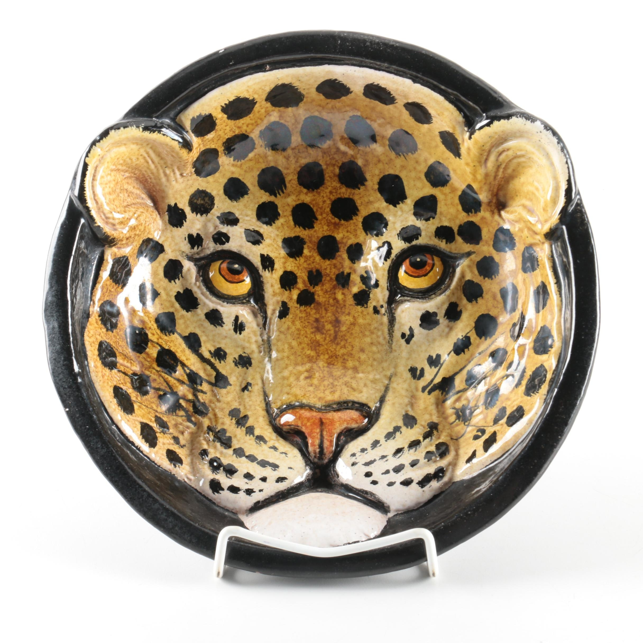 Cheetah Form Ceramic Bowl
