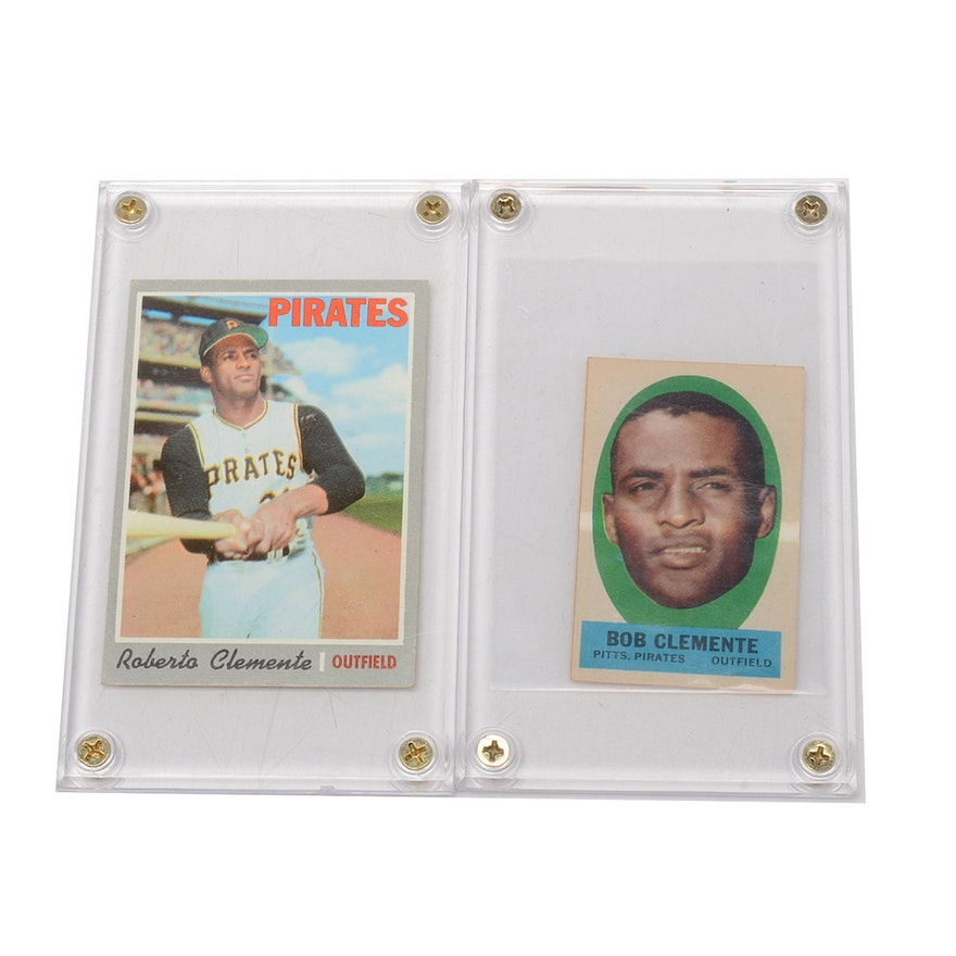 1963 And 1970 Roberto Clemente Topps Baseball Cards