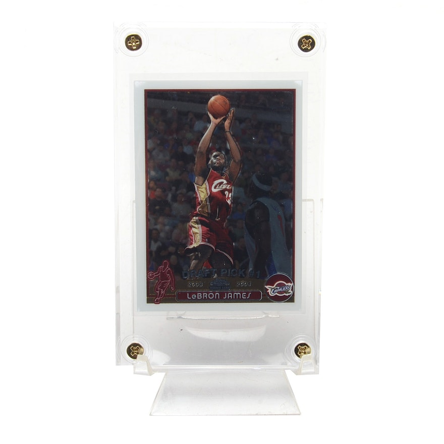 2003 Lebron James Topps Chrome Rookie Card