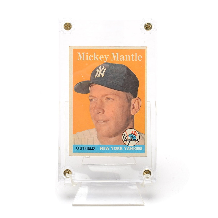 1958 Mickey Mantle New York Yankees Topps Card