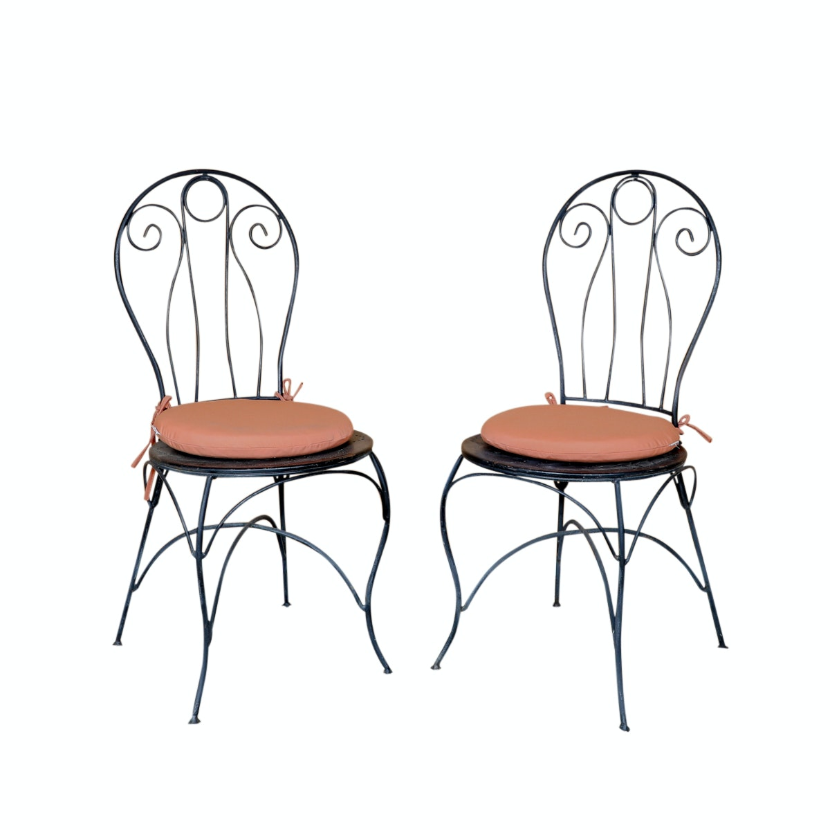 Pair of Metal Bistro Chairs