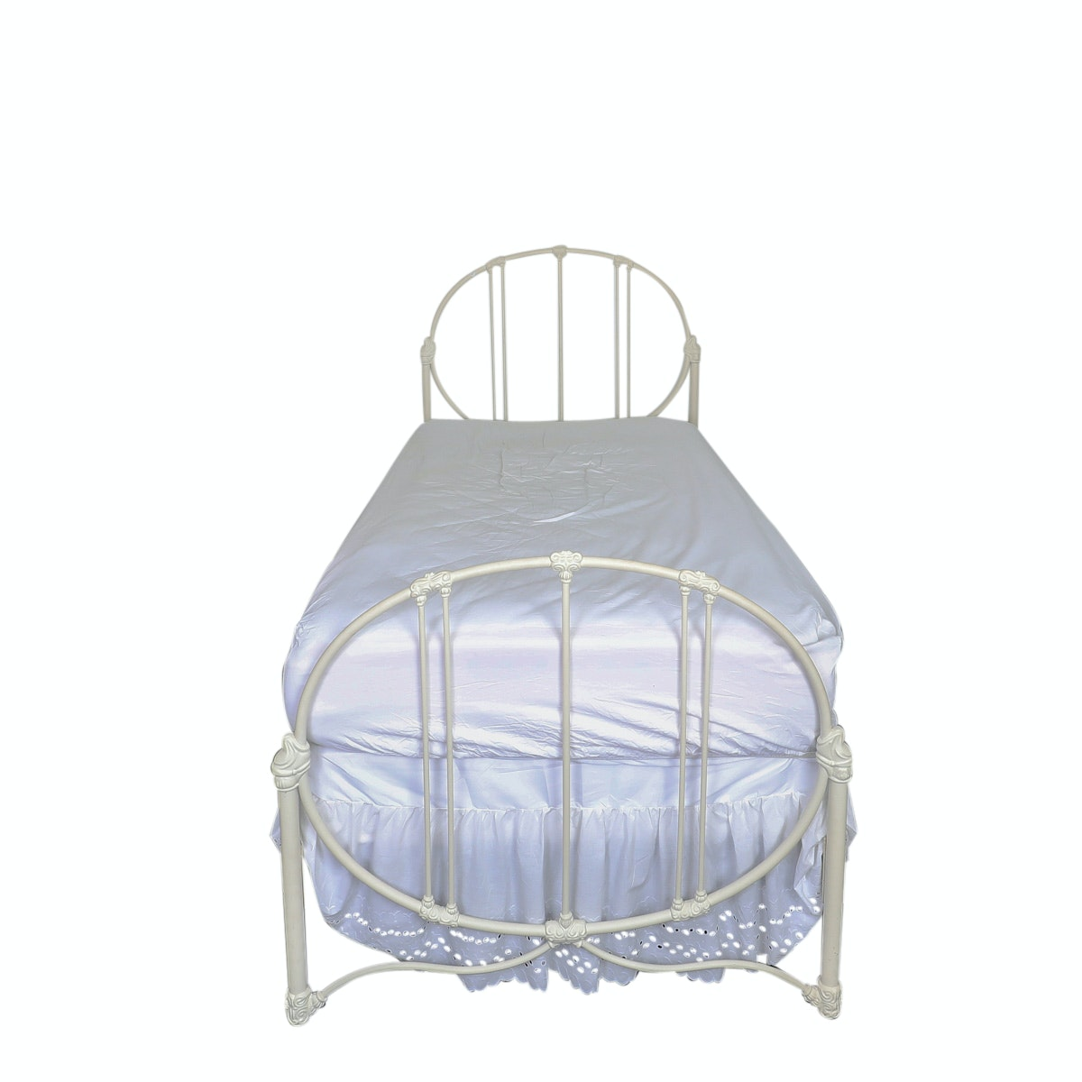 Victorian Style Wedding Ring Wrought Iron Twin Size Bed Frame