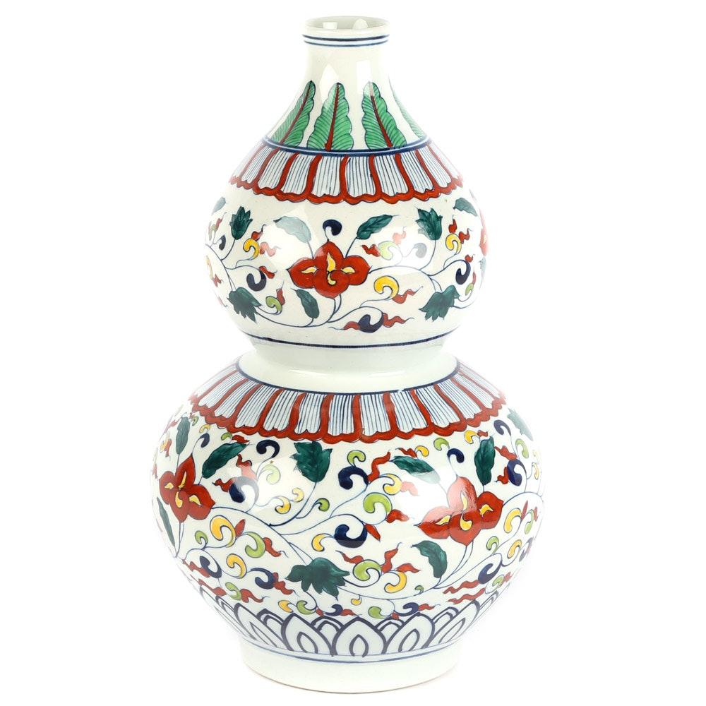 Chinese Ceramic Gourd Vase