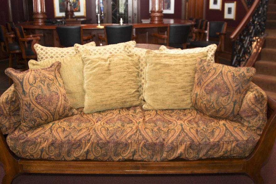 Palmer Home Sleigh Style Sofa Ebth
