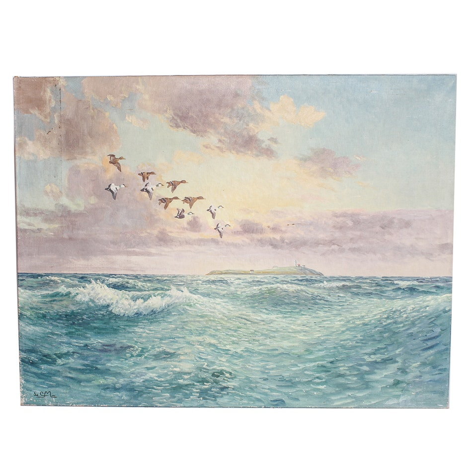 Signed Oil Painting of Seascape