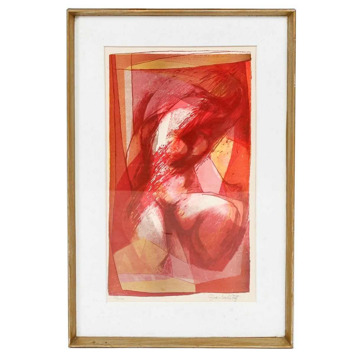 Limited Edition Lithograph of Abstract Composition
