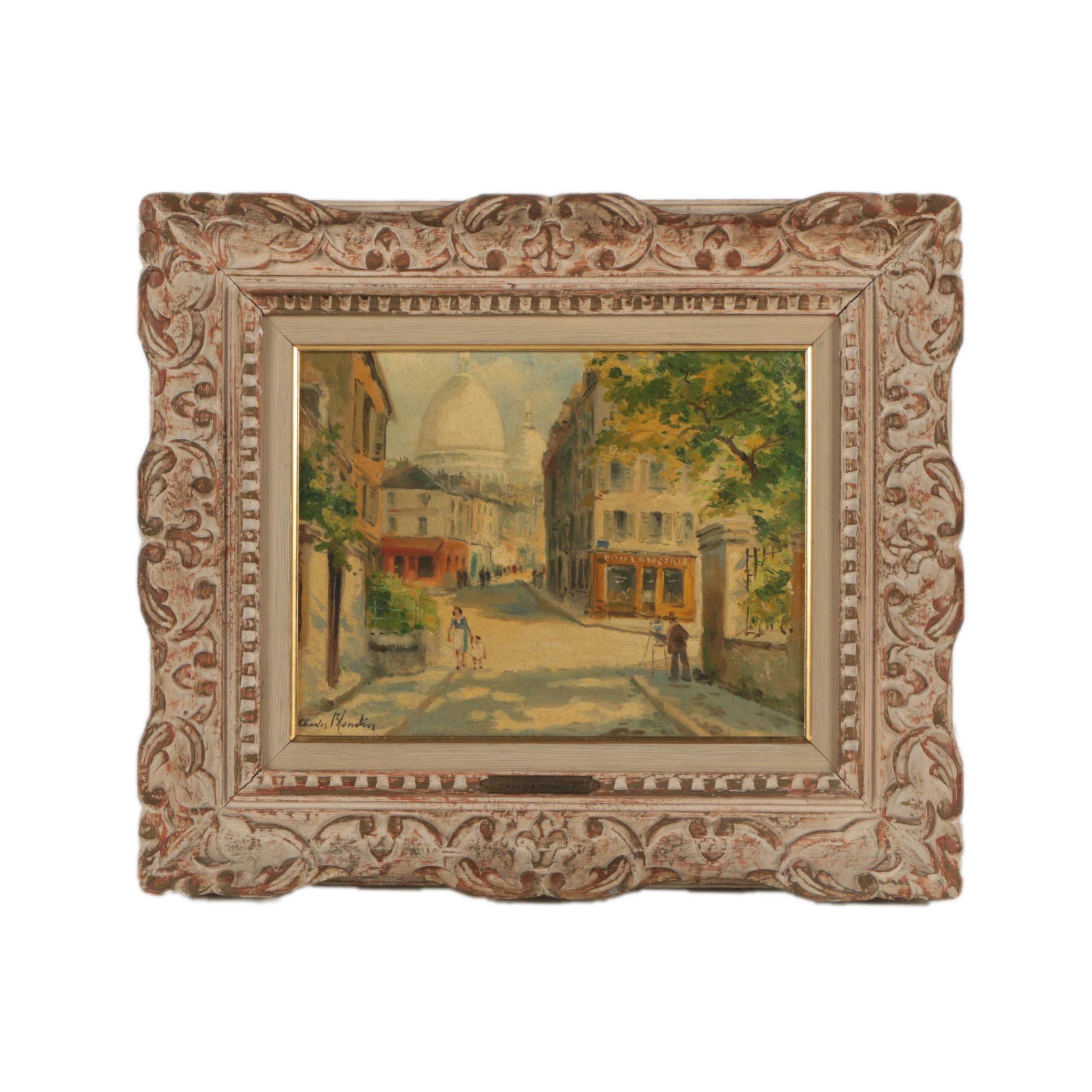 "Charles Blondin Oil Painting ""Rue Norvins"""
