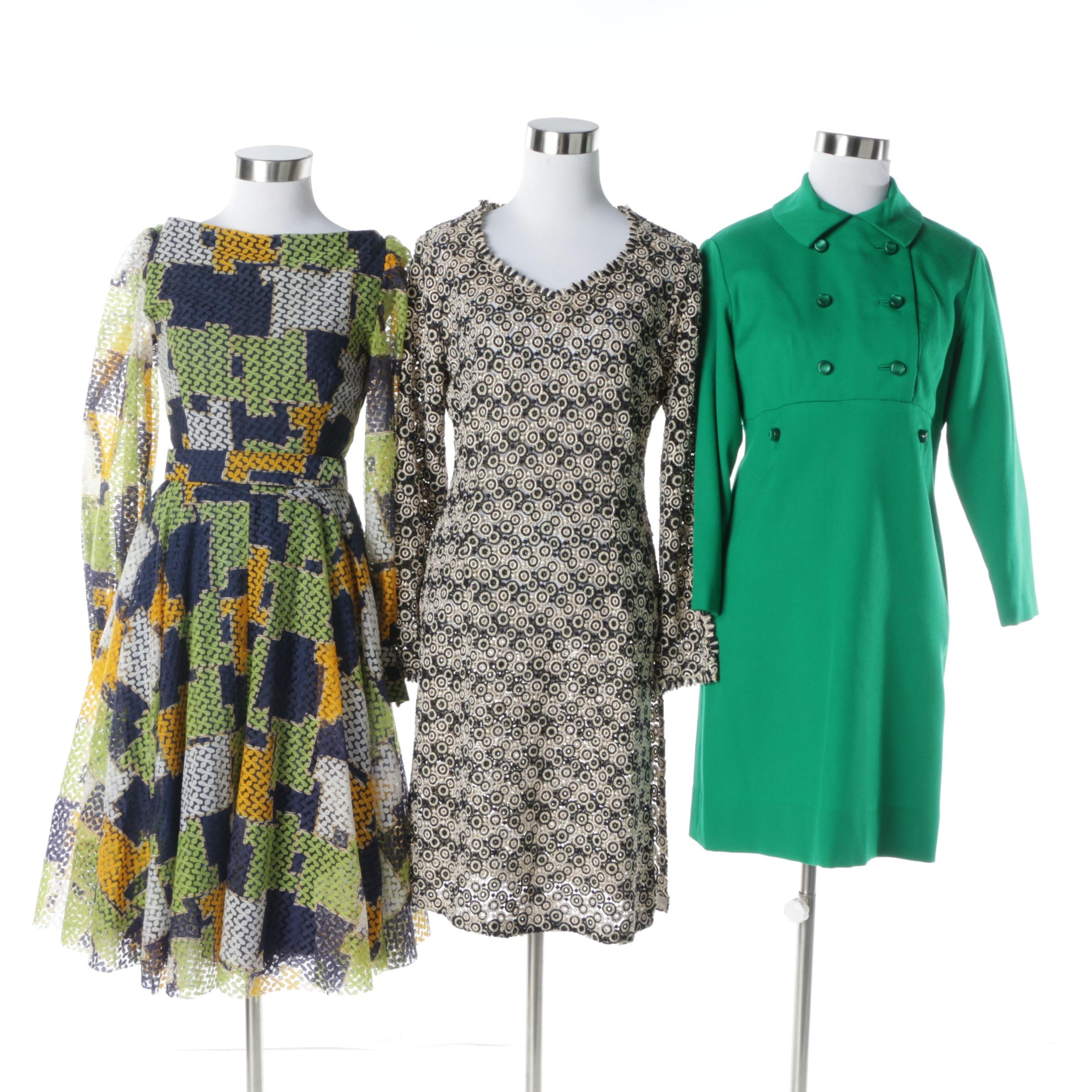 1970s Vintage Knit and Lace Dresses Including, Made in Italy