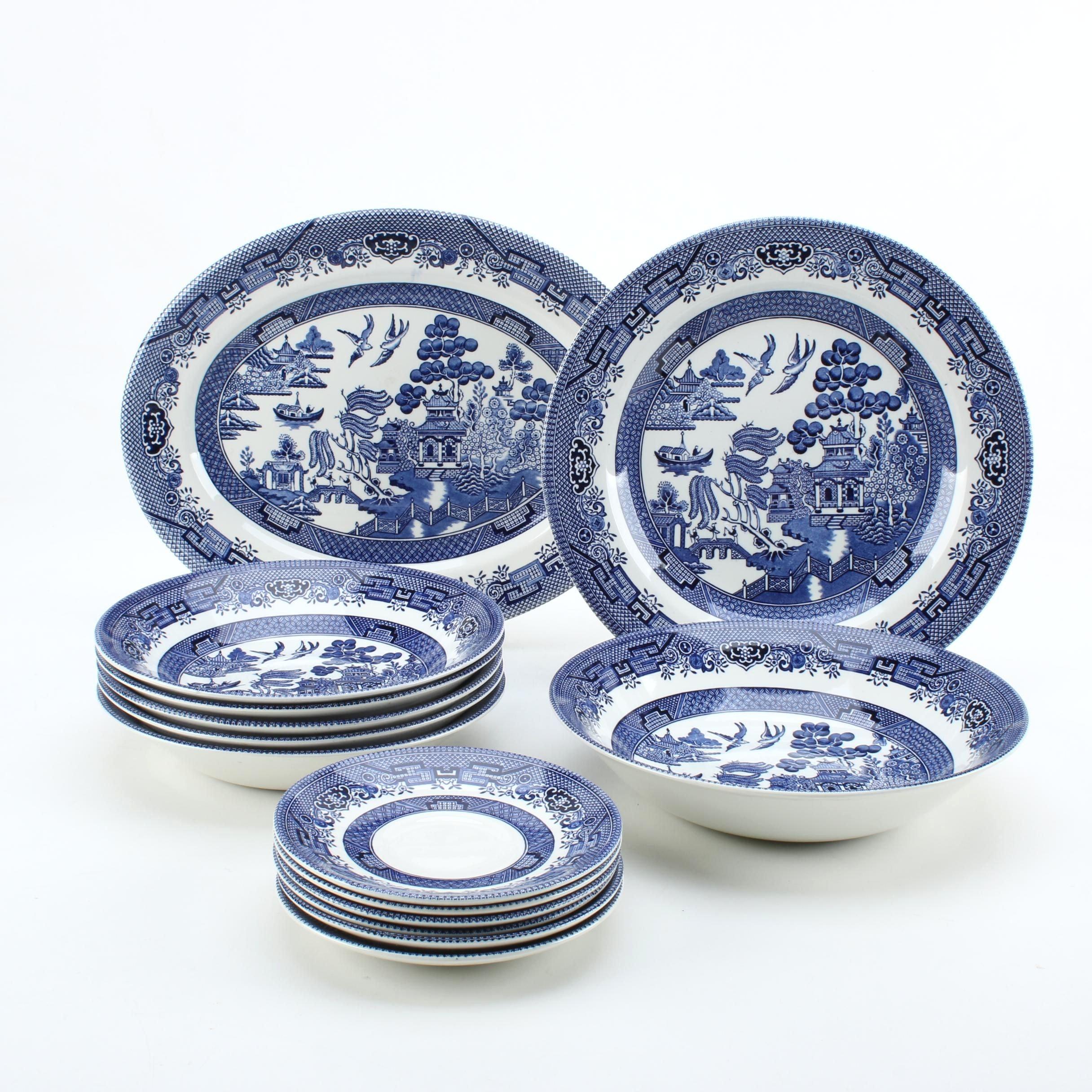Churchill \ Willow Blue\  Dinnerware ...  sc 1 st  EBTH.com & Churchill \