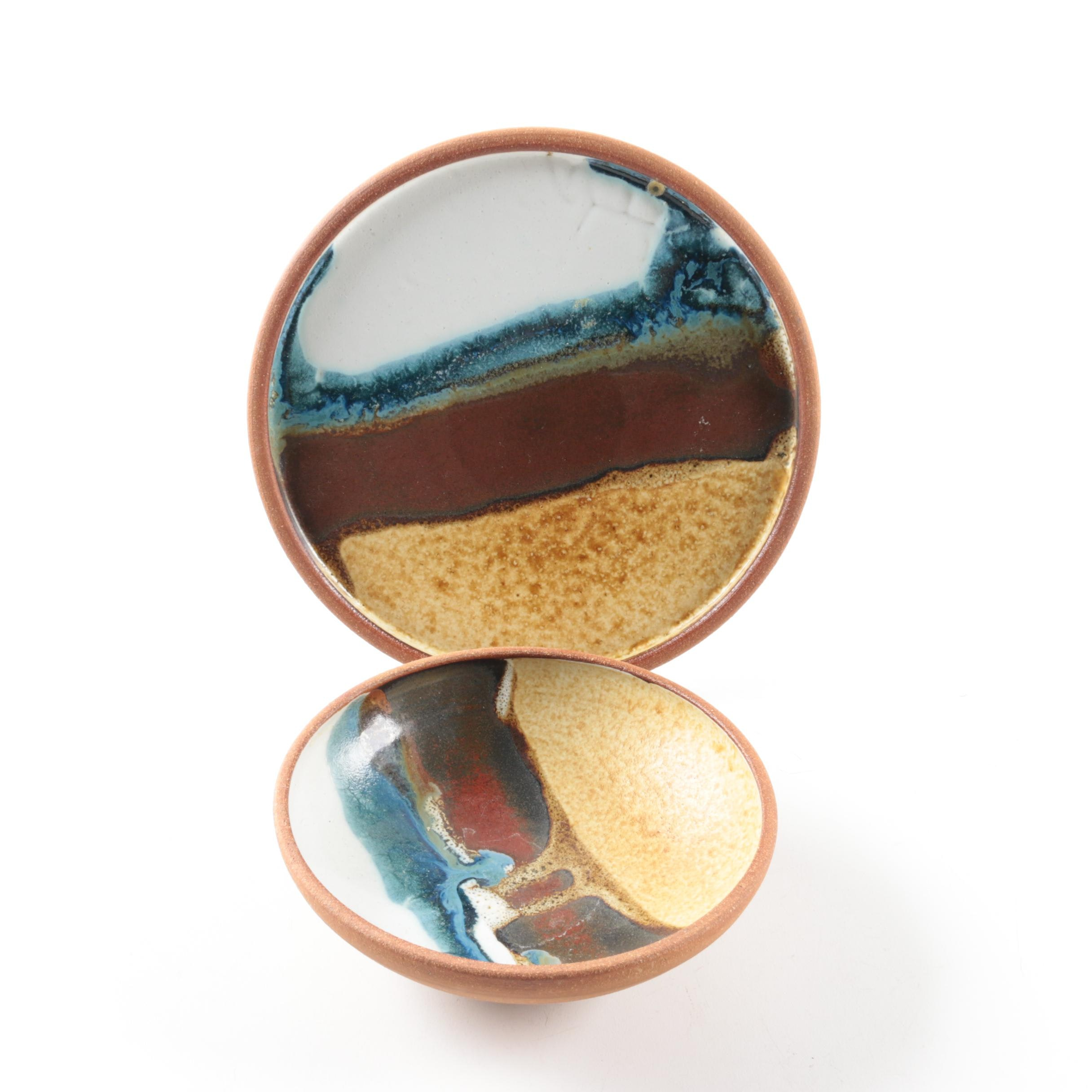 Signed Studio Pottery Stoneware Bowls