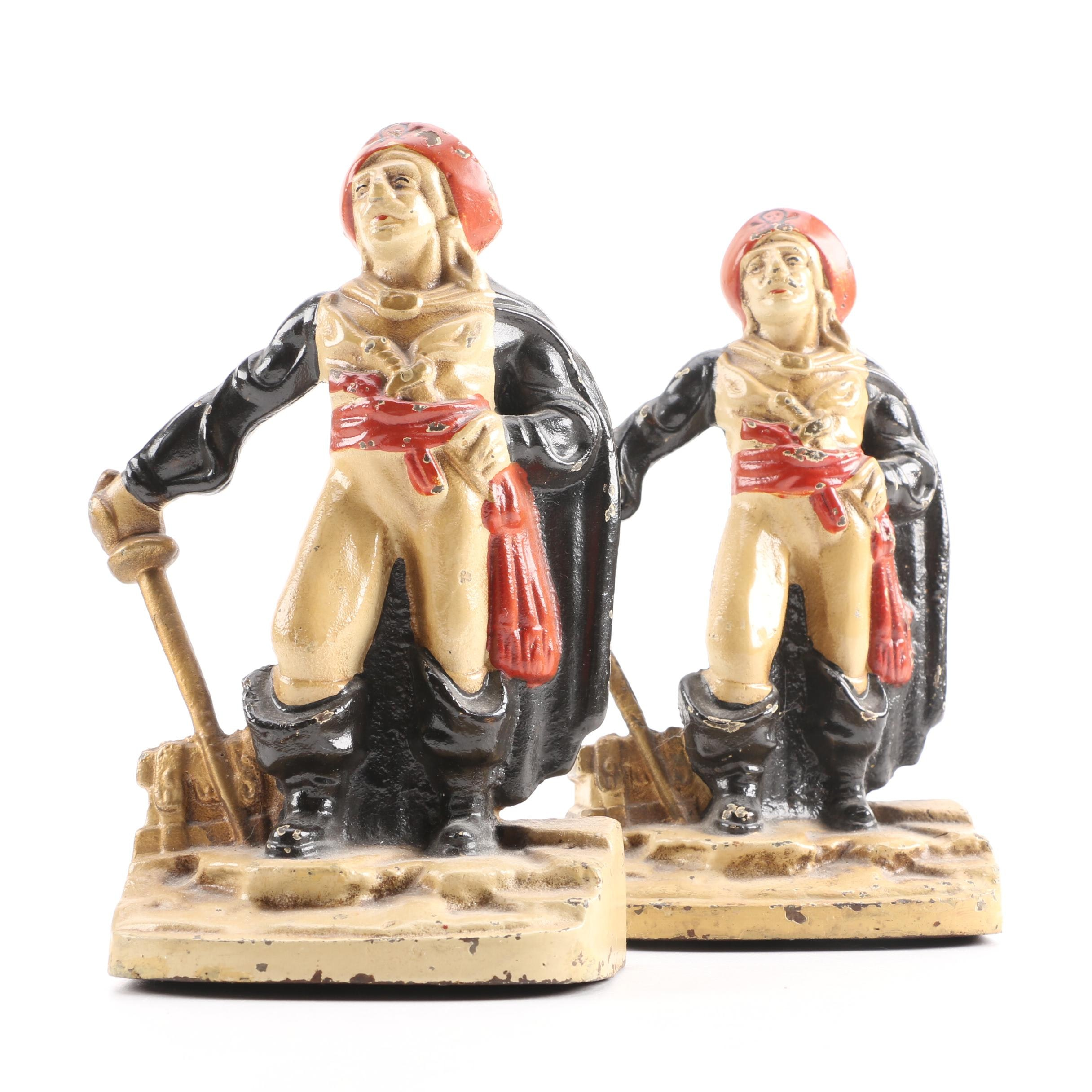 Vintage Cast Iron Pirate Bookends