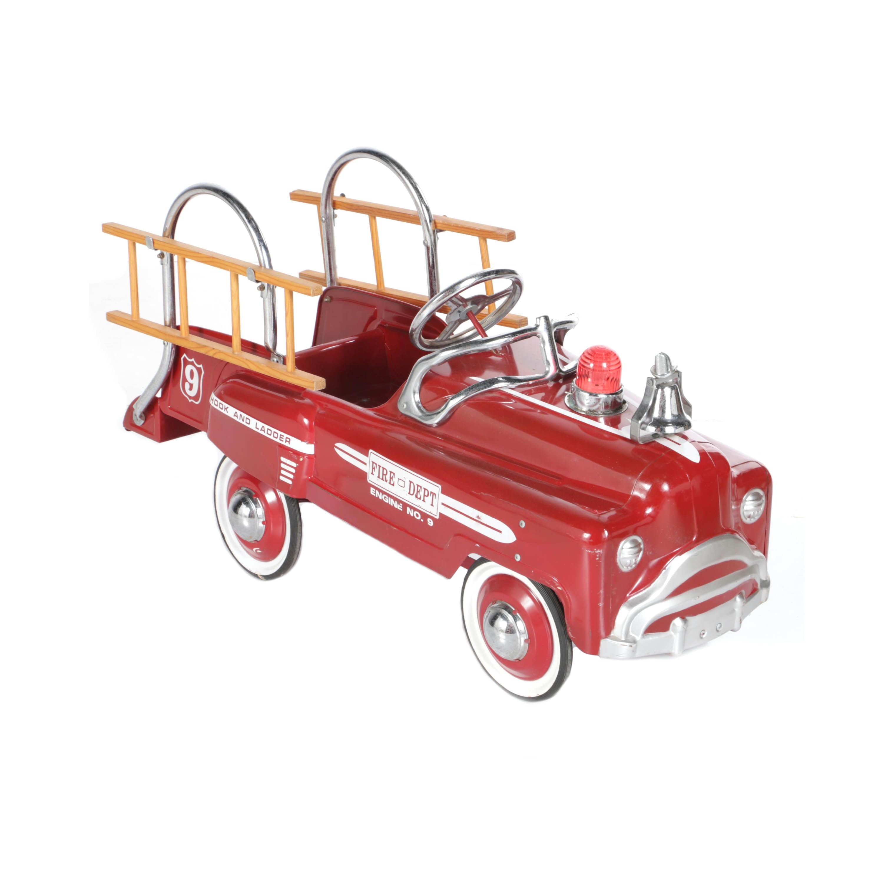 Reproduction Hook and Ladder Fire Engine Pedal Car