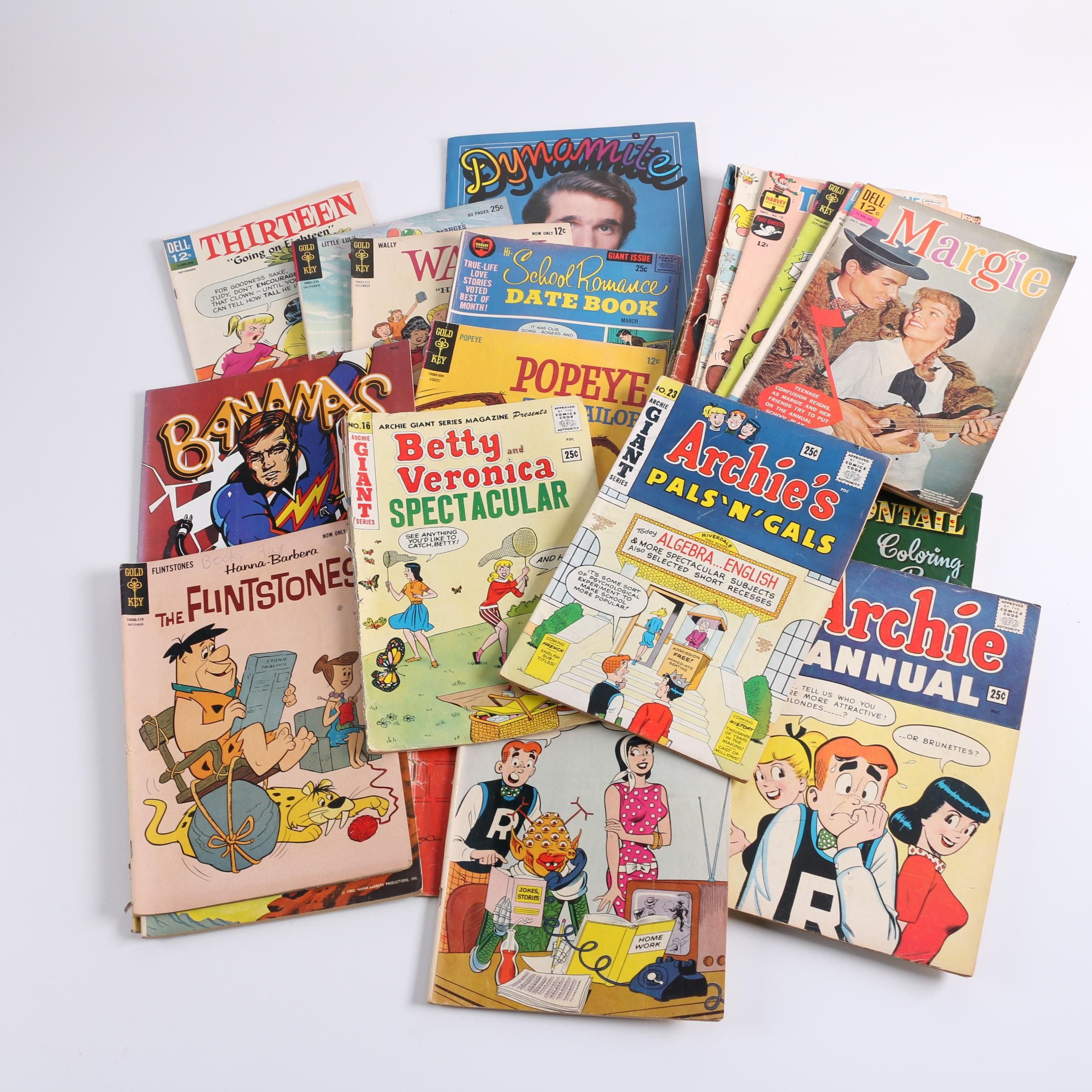 "Comic Books and Coloring Books Including ""Dennis the Menace"" and ""Archie"""
