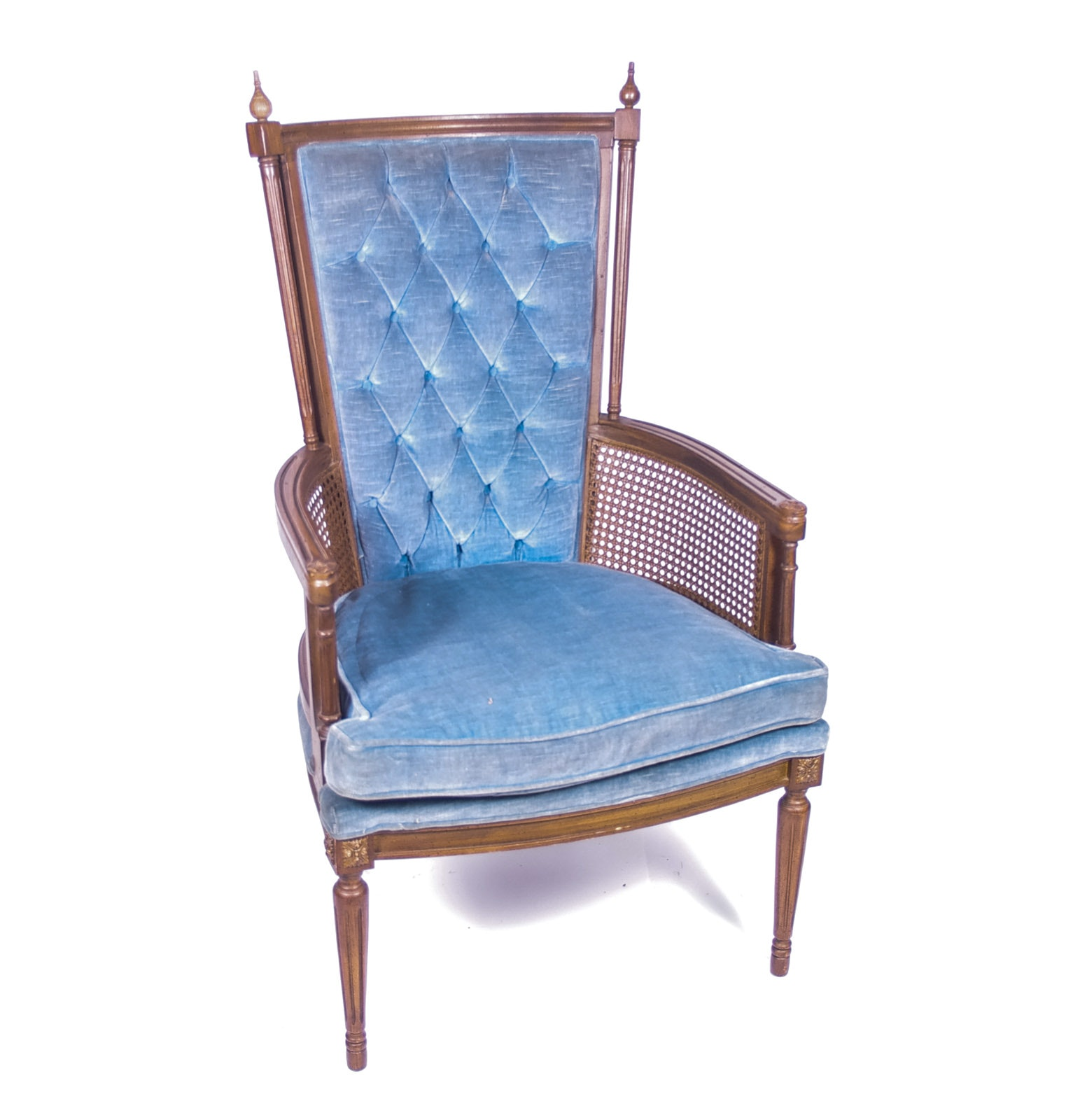 Upholstered High Back Arm Chair