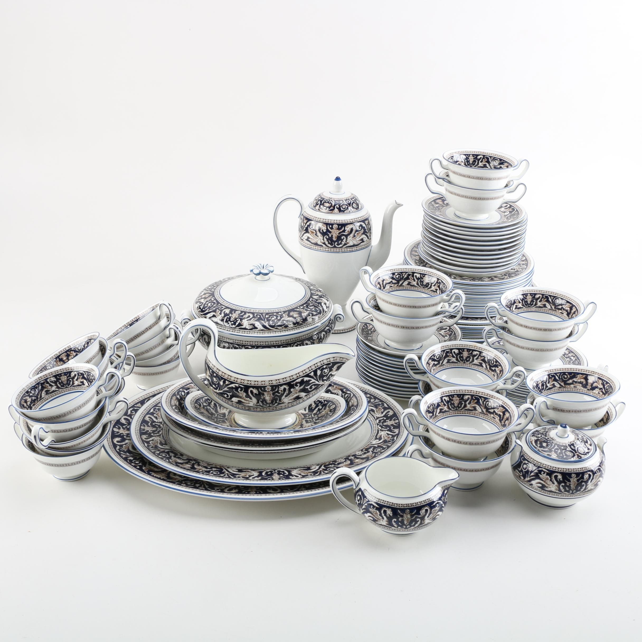 "Vintage Wedgwood ""Florentine"" Dinnerware and Serving Dishes"