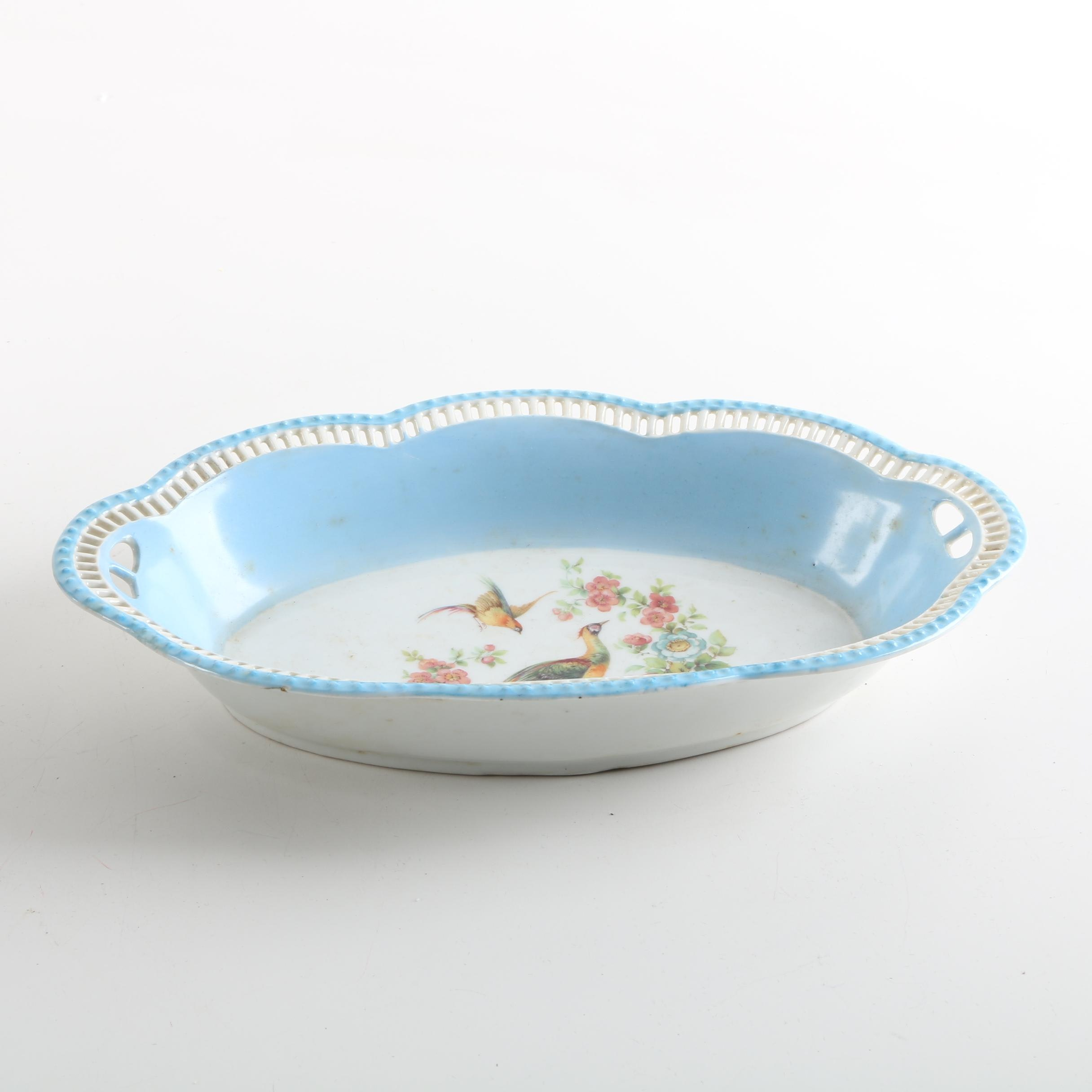 Schumann Bavaria Bowl with Peacocks and Flowers