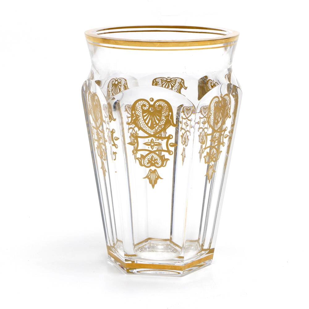 "Baccarat ""Nelly"" Gilt Crystal Vase"