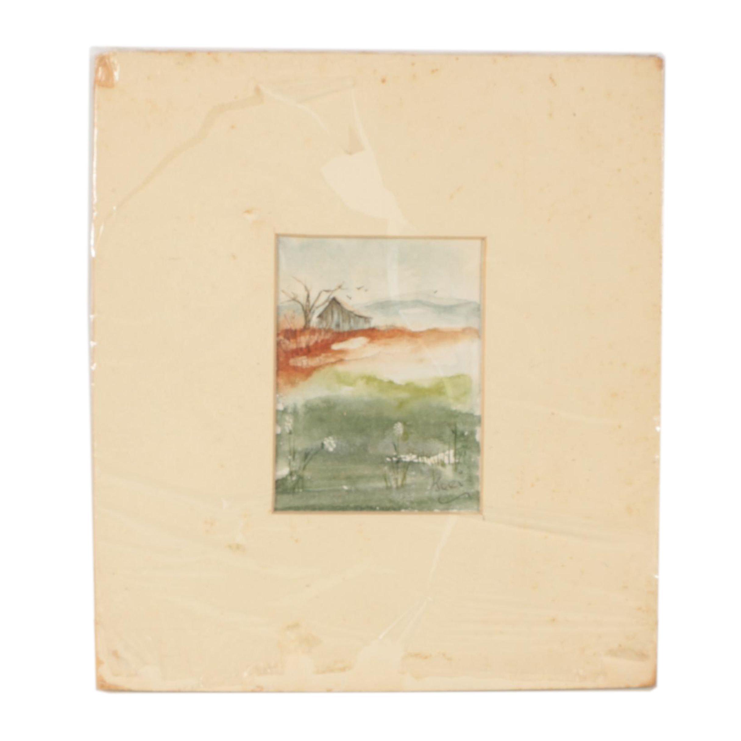 Jeri Watercolor Painting of a Landscape