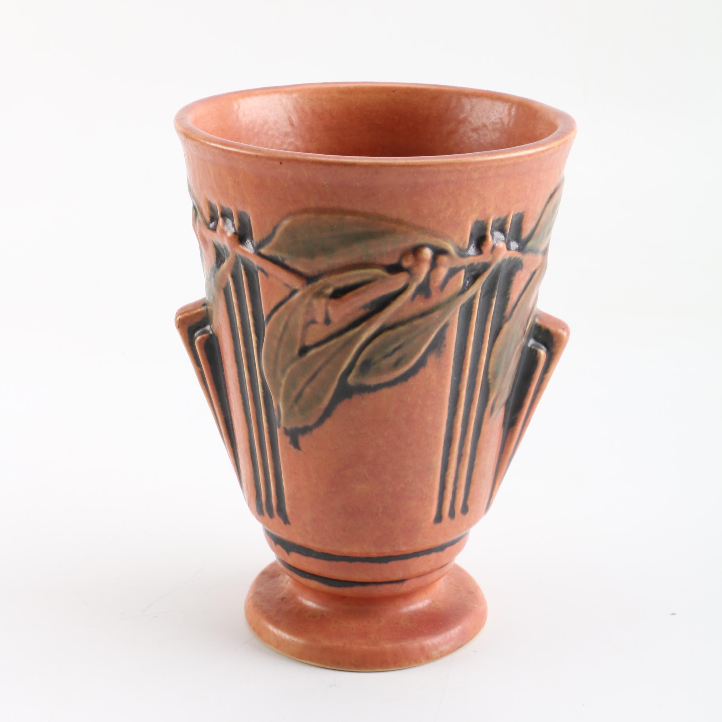 """Roseville Pottery """"Laurel"""" Vase"""