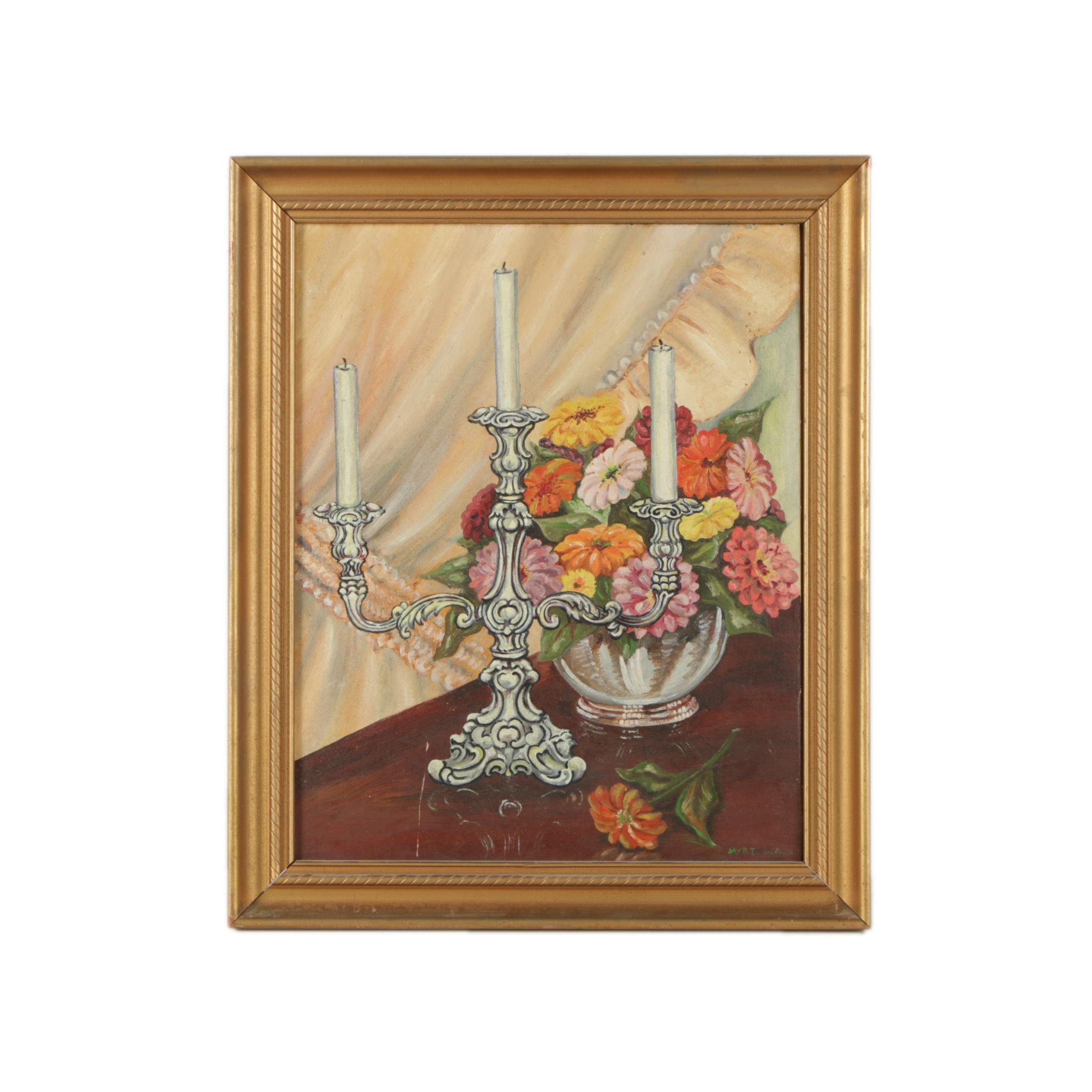 "Myrt Cammack Ward Oil Painting ""Family Treasures"""