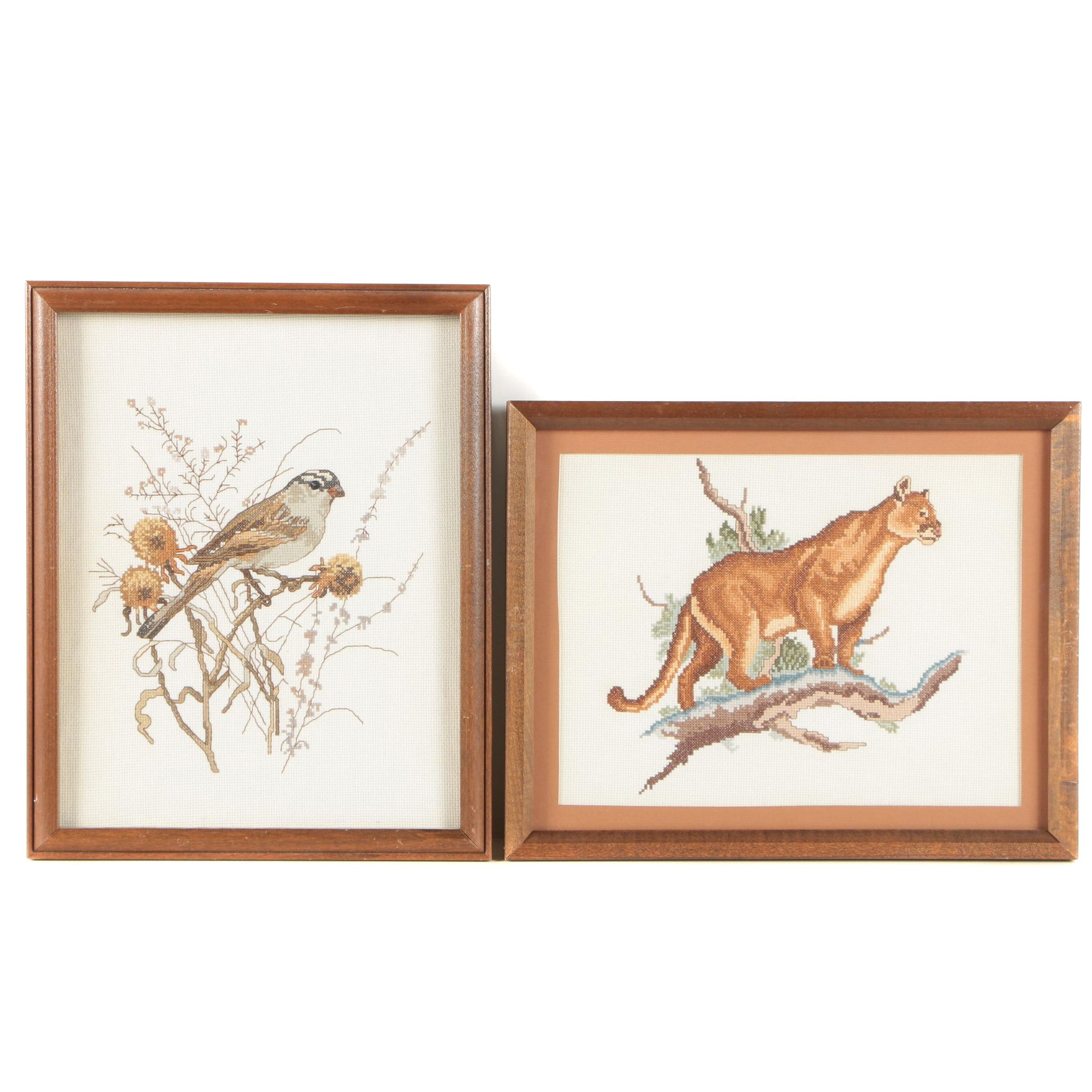 Cross-Stitch Embroideries of Animals
