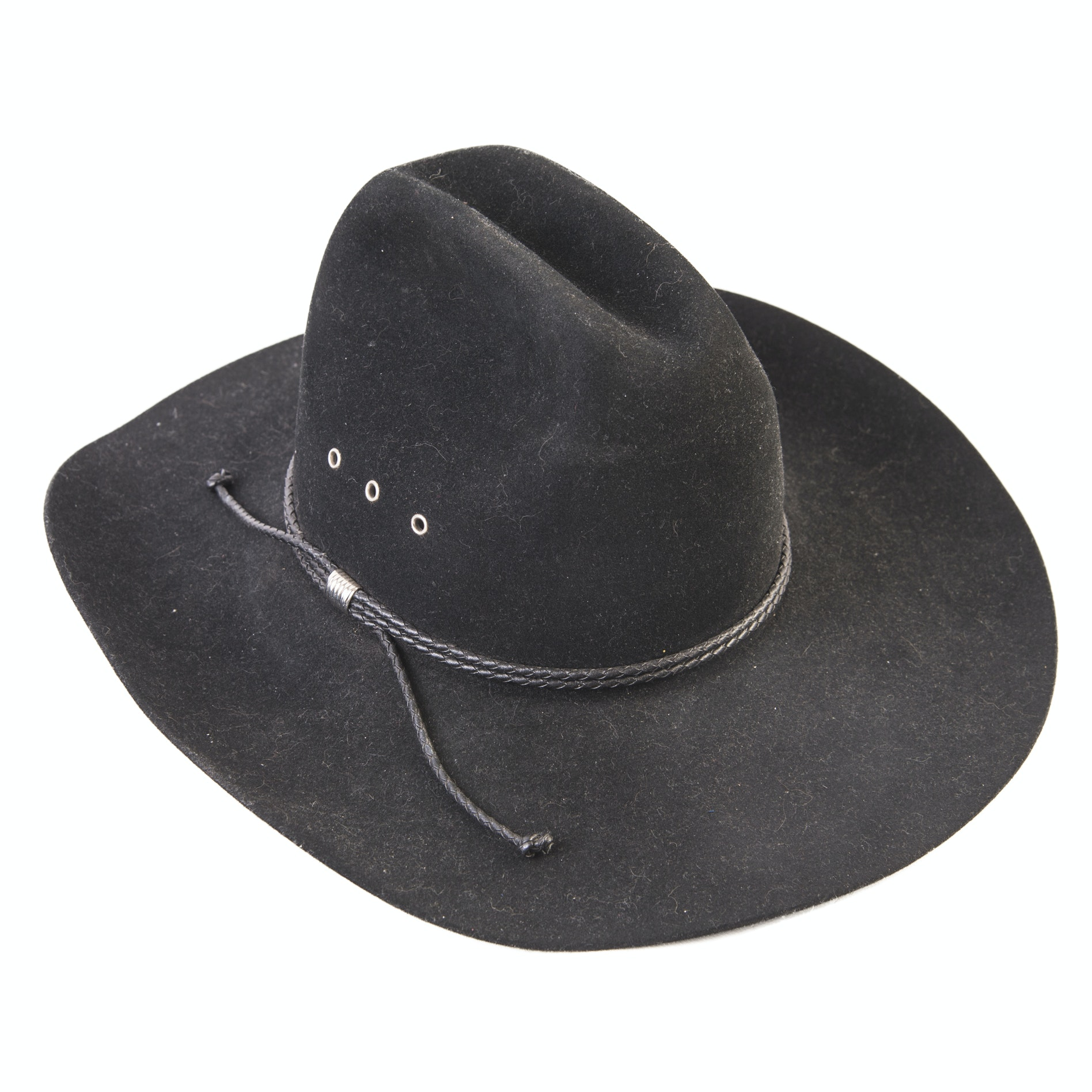 Stetson Black 4X Felted Beaver Cowboy Hat with Braided Band