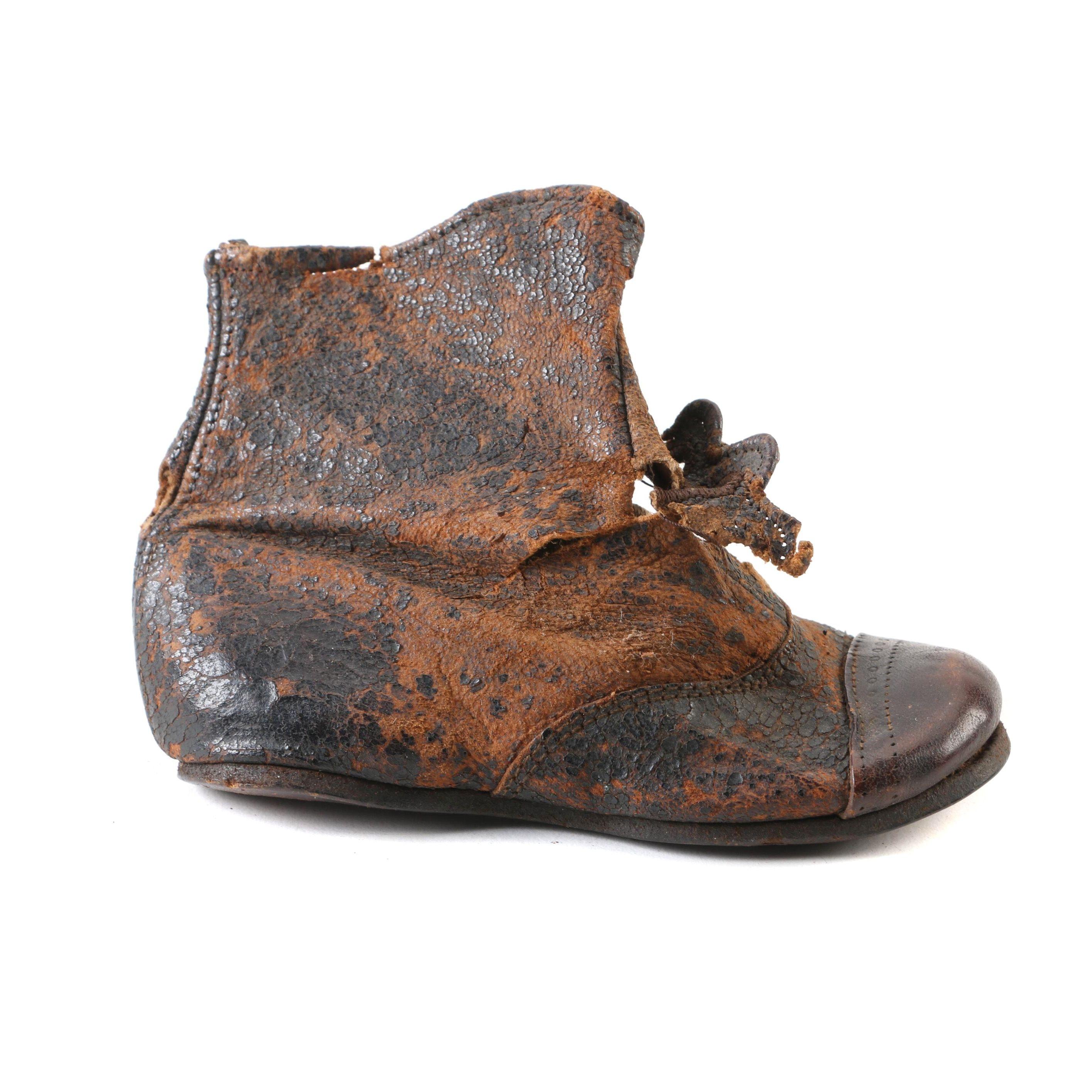 Infant's Antique Leather Shoe