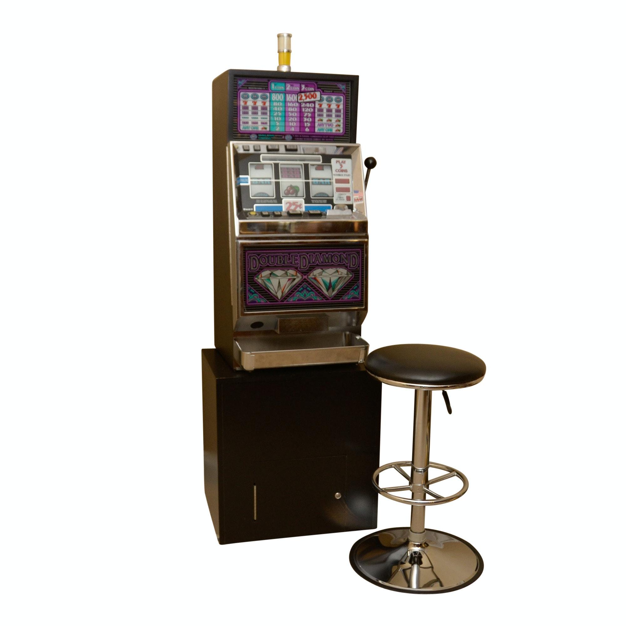 IGT Double Diamond Slot Machine and Stool