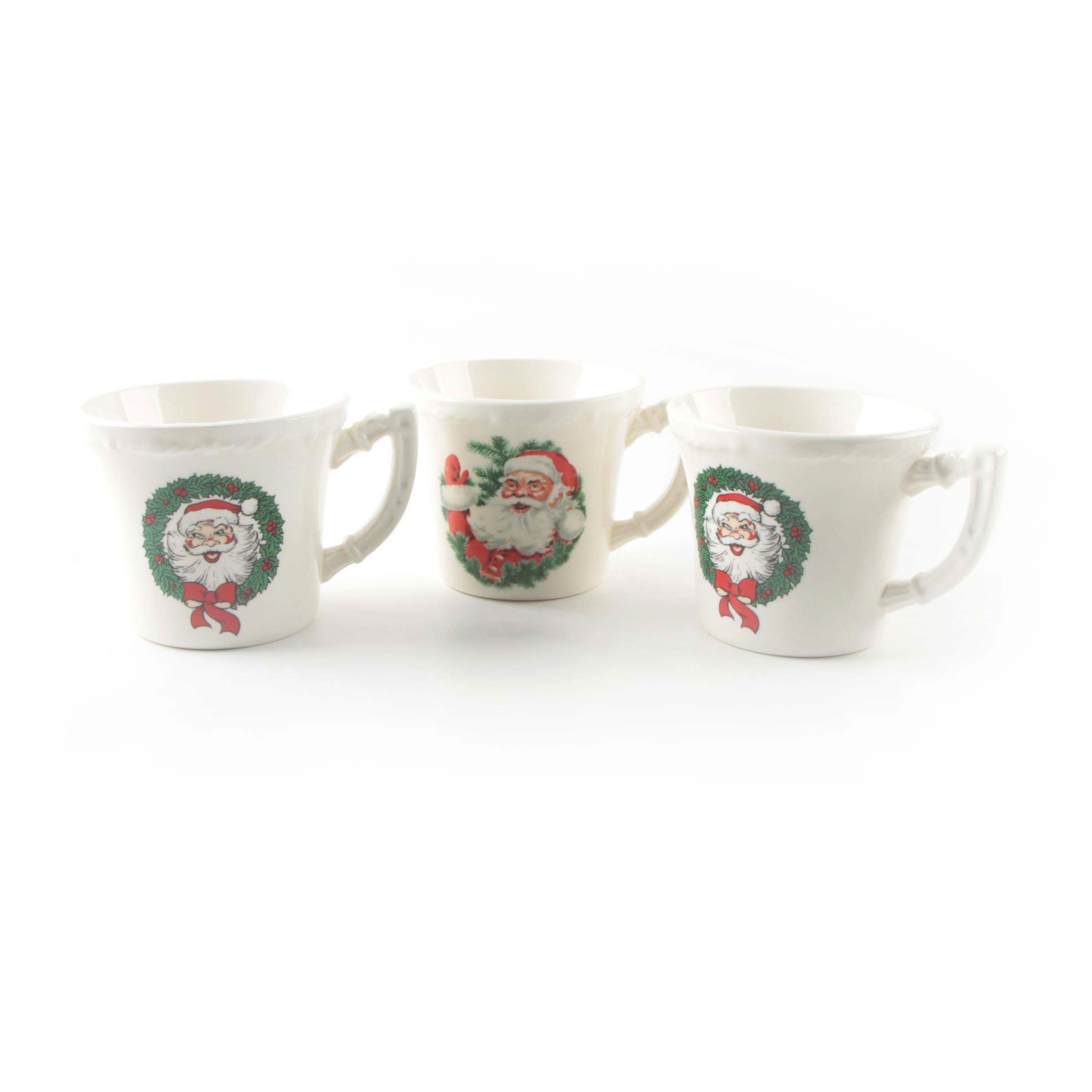 "Vintage Christmas ""Santa"" Mugs"