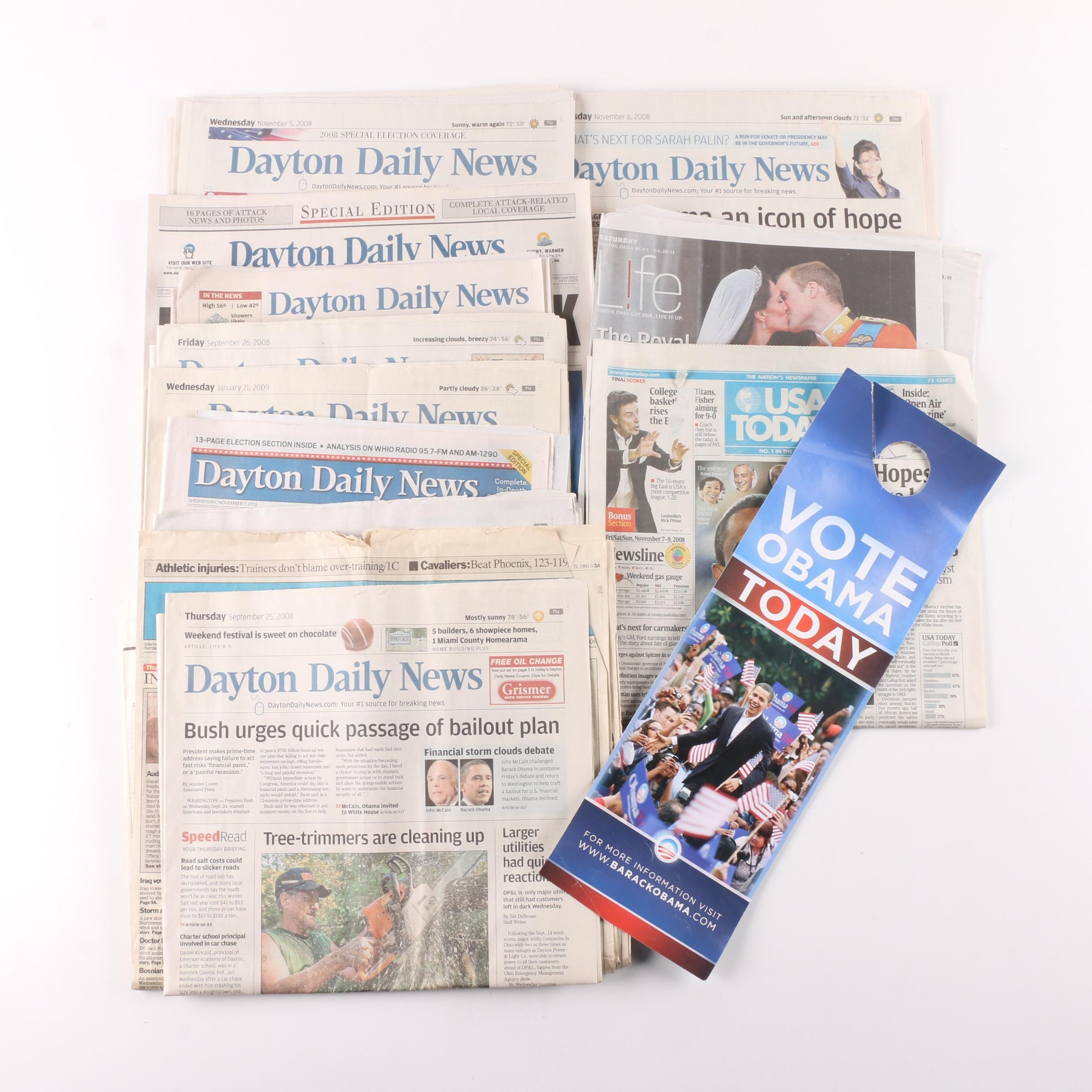 """""""Dayton Daily News"""" Newspapers on Obama's Presidential Campaign and More"""