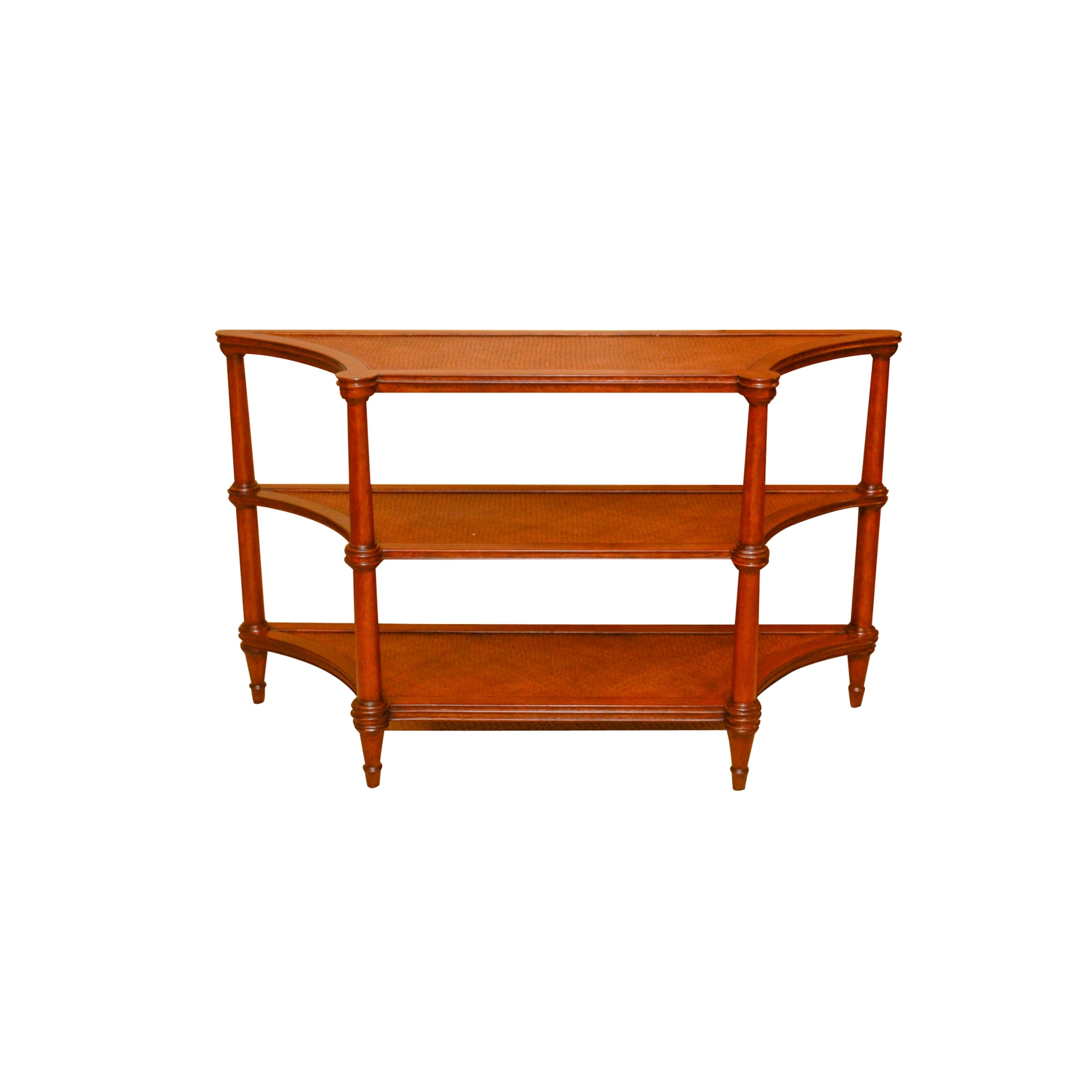 Vintage Three-Tier Console Table by Ethan Allen