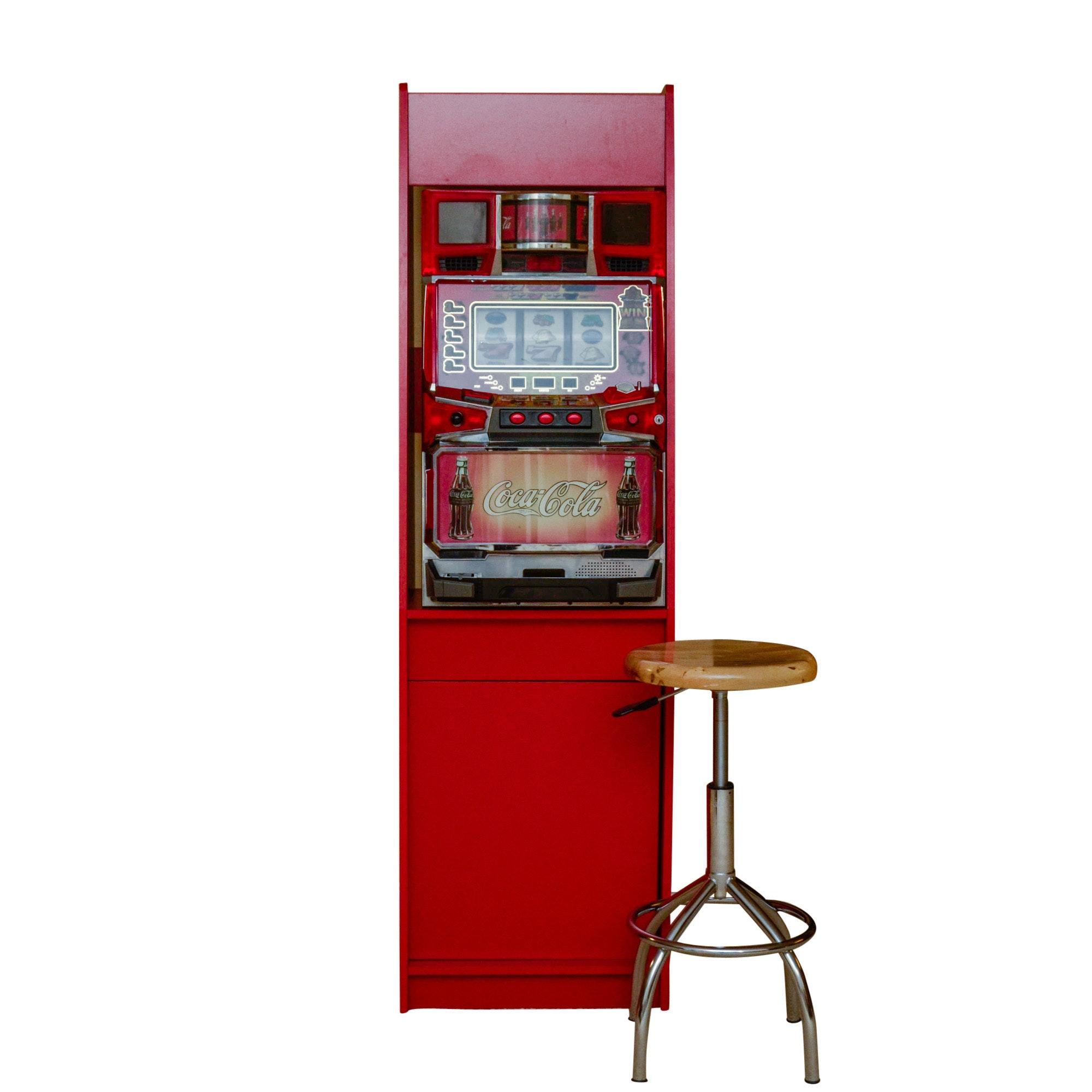 Coca-Cola Slot Machine with Stool