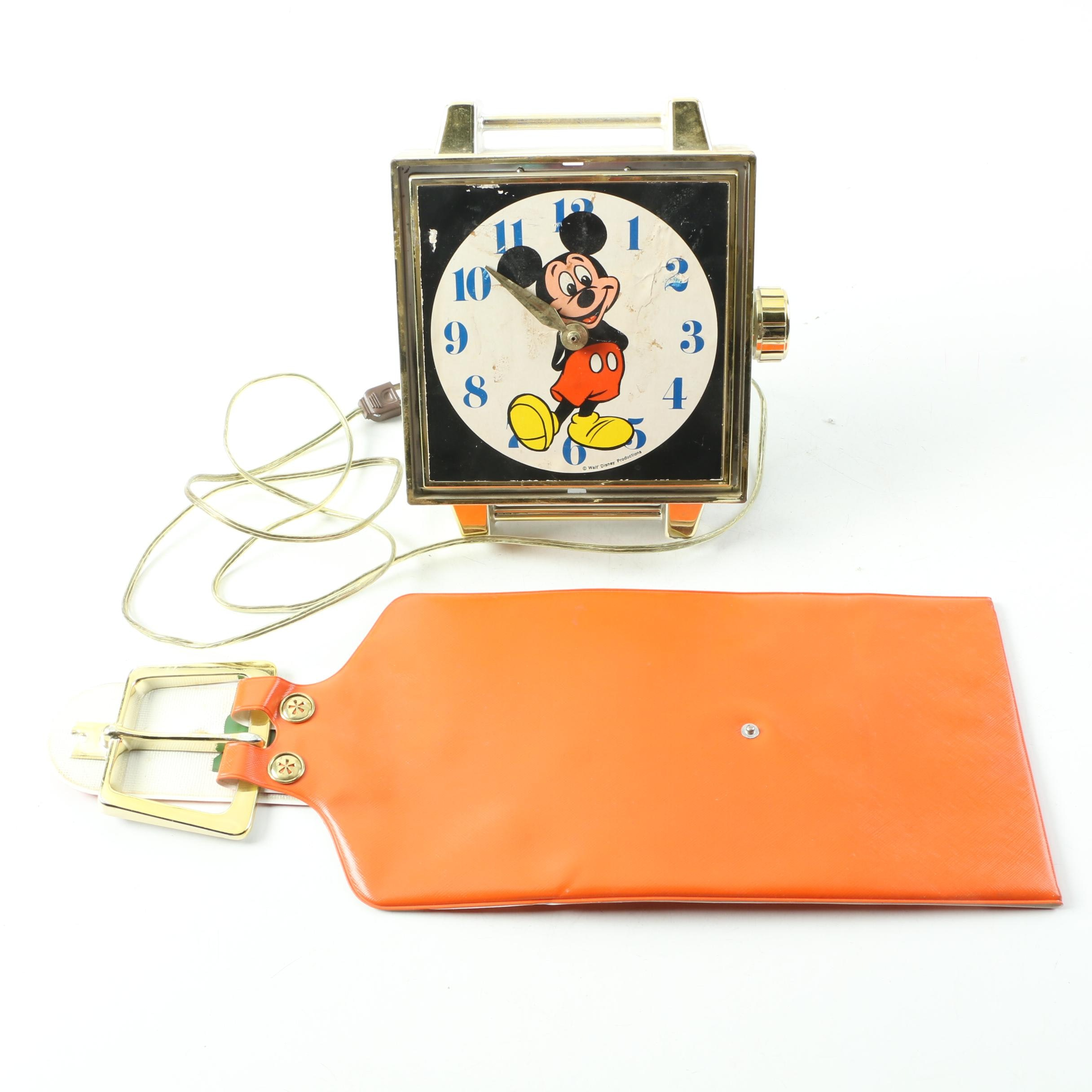 Vintage Spartus Corp. Mickey Mouse Watch Wall Clock