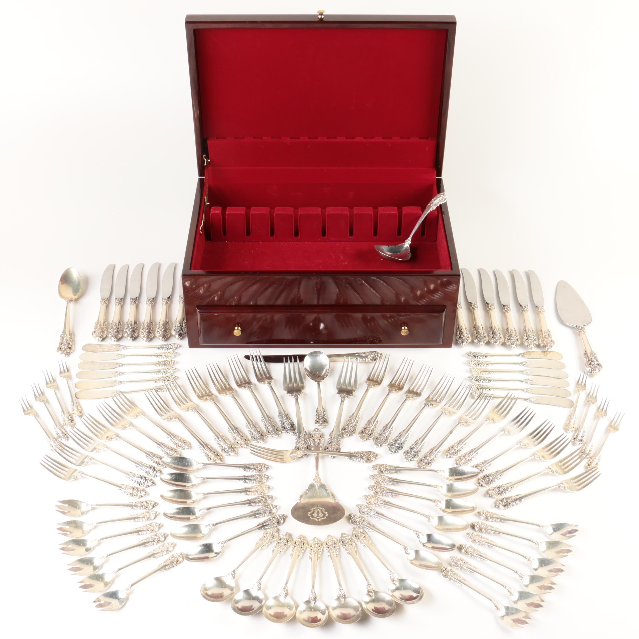 "Wallace ""Grande Baroque"" Sterling Silver Flatware Set"