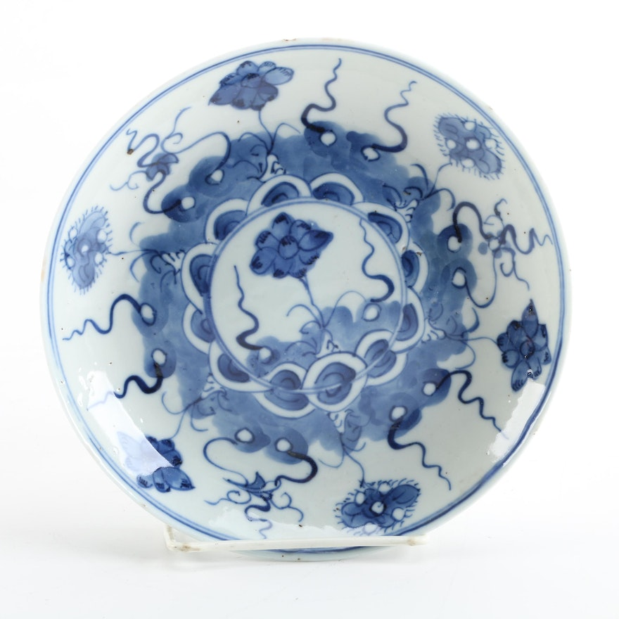 Antique Chinese Qing Dynasty Porcelain Plate Ebth