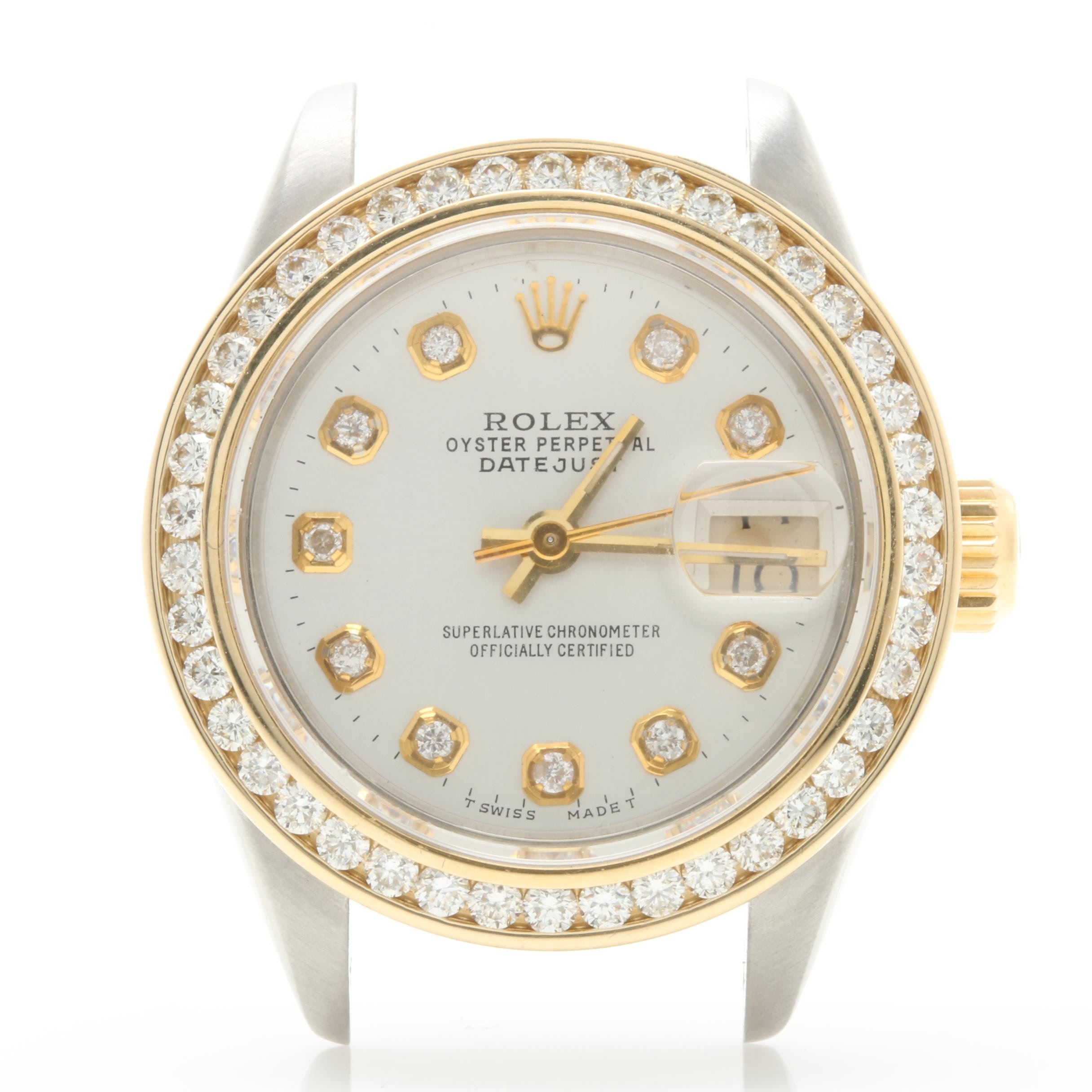Rolex Stainless Steel and 18K Yellow Gold Watch Case with 1.15 CTW Diamonds
