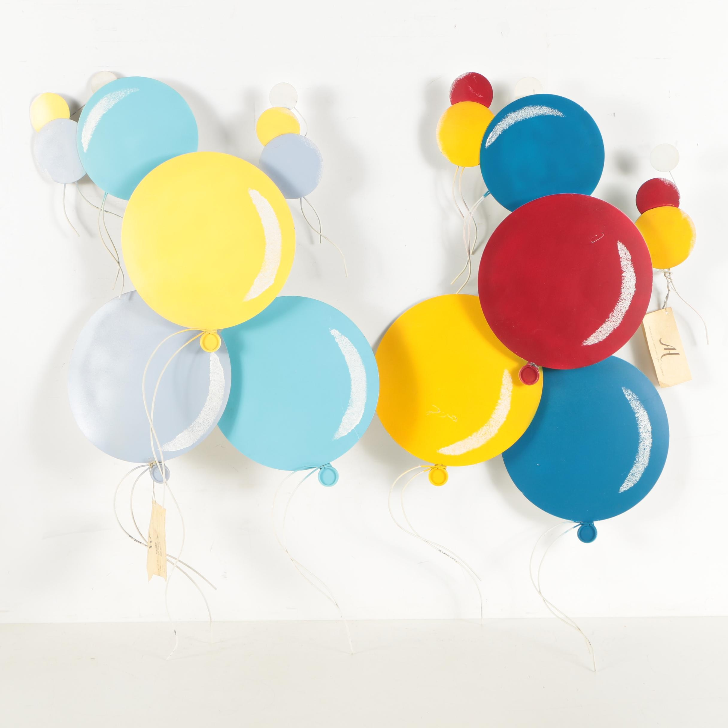 """C. Jere Metal Wall Sculptures """"Balloons I and II"""""""