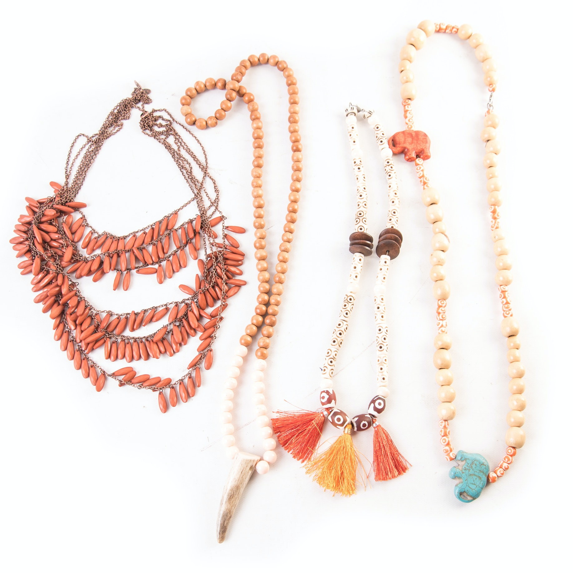 Collection of Tribal Themed Costume Necklaces